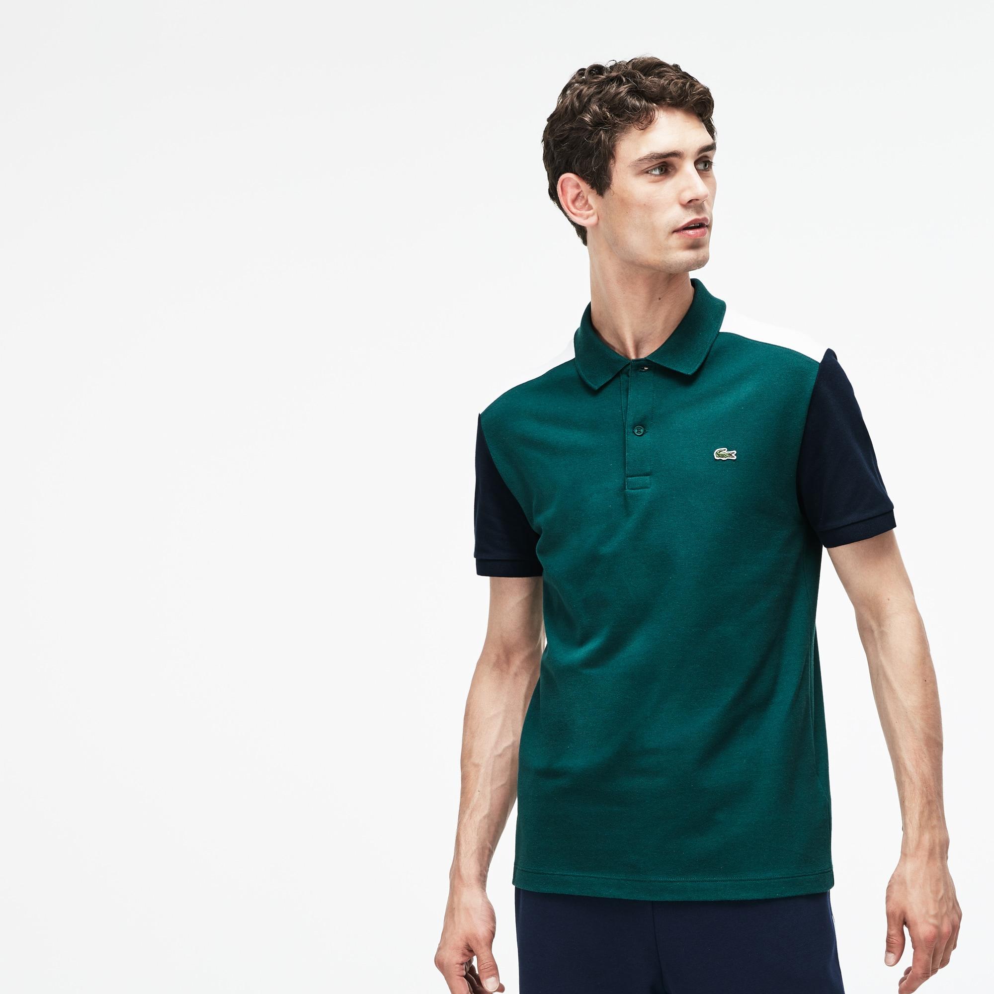 e1ba2243e29 Men's Lacoste Slim Fit Colourblock Stretch Pima Cotton Piqué Polo ...