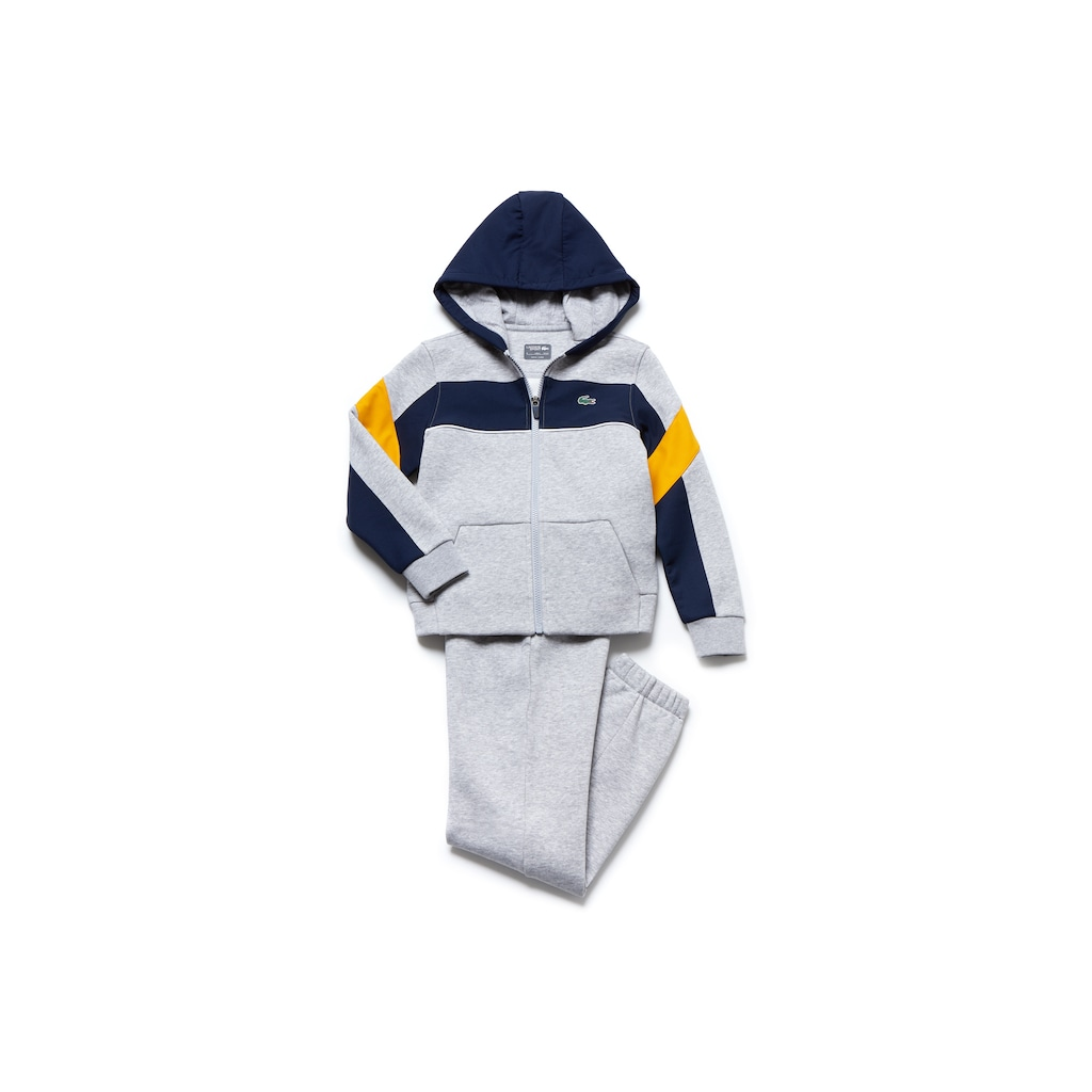 e174a2a49 Boys  Lacoste SPORT Fleece And Taffeta Tennis Tracksuit