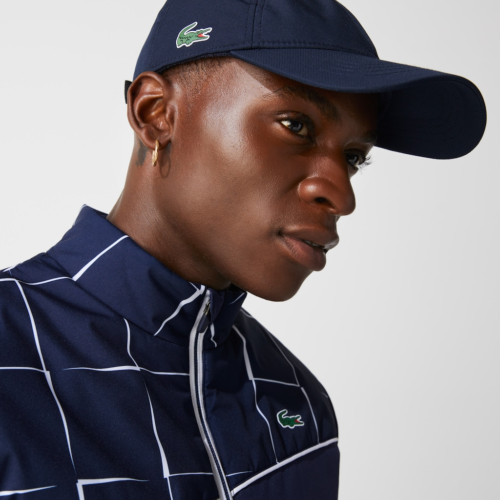 02c05380ab3 Men s Lacoste SPORT cap in solid diamond weave taffeta