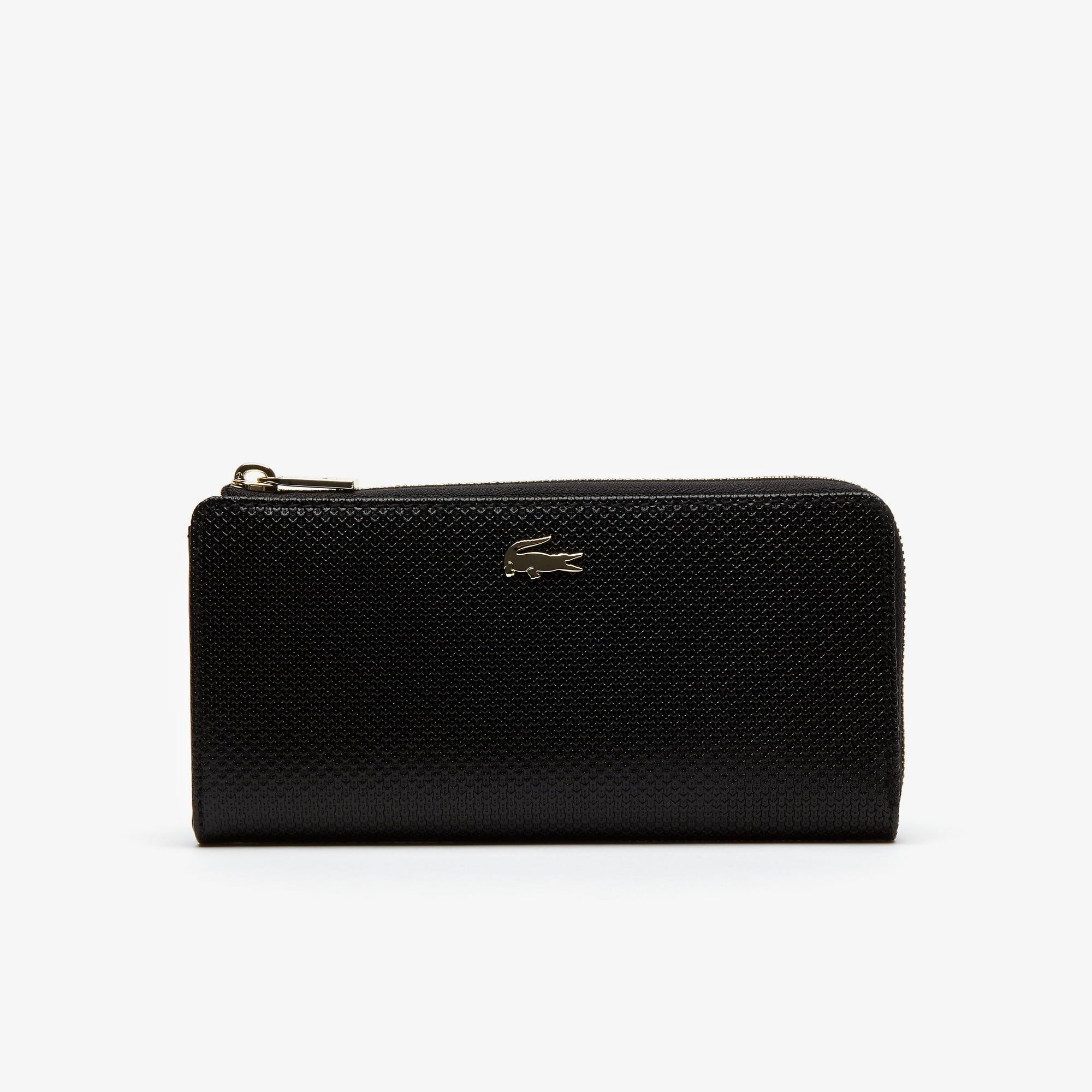 Women's Chantaco Zippered Piqué Leather Eight Card Wallet