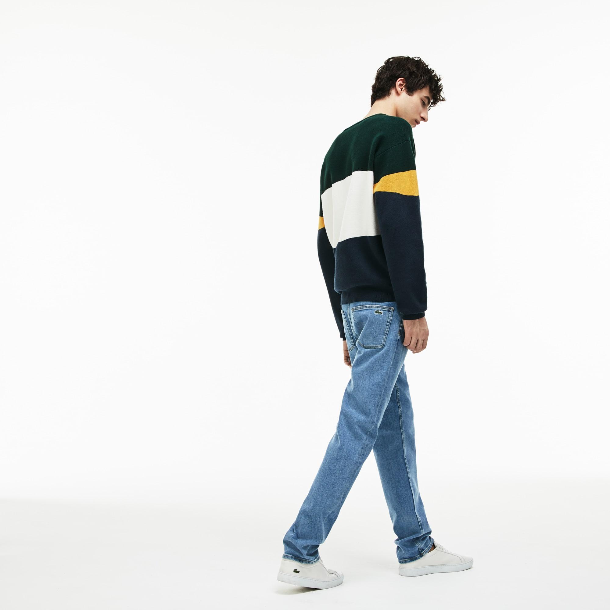 Men's Slim Fit Five-Pocket Stretch Cotton Denim Jeans