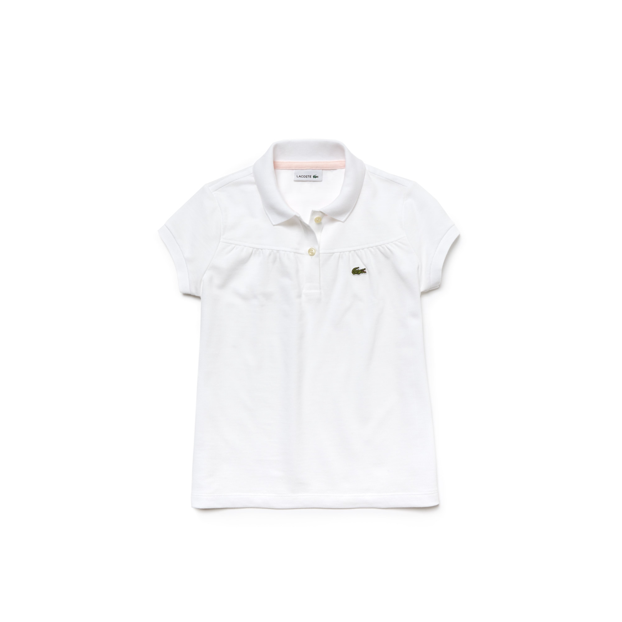 579def63e7185 Kids Lacoste Polo Shirt in gathered mini piqué