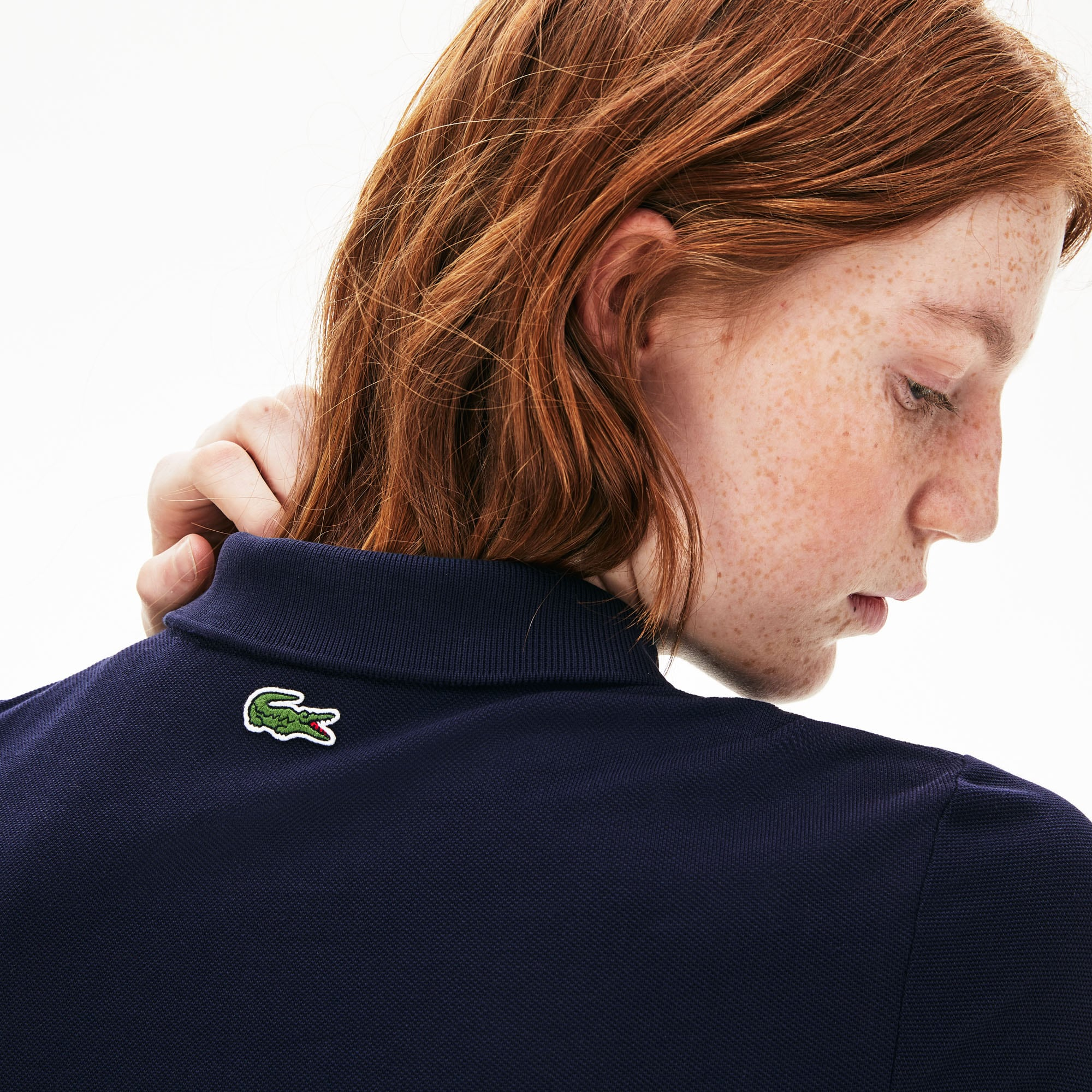 Unisex Lacoste LIVE Slim Fit Signature Embroidery Petit Piqué Polo Shirt