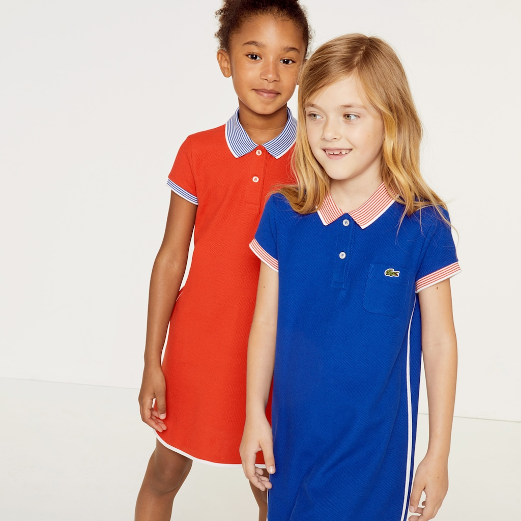 4b6444d471c76 Girls  Contrast Accents Texturised Cotton Polo Dress