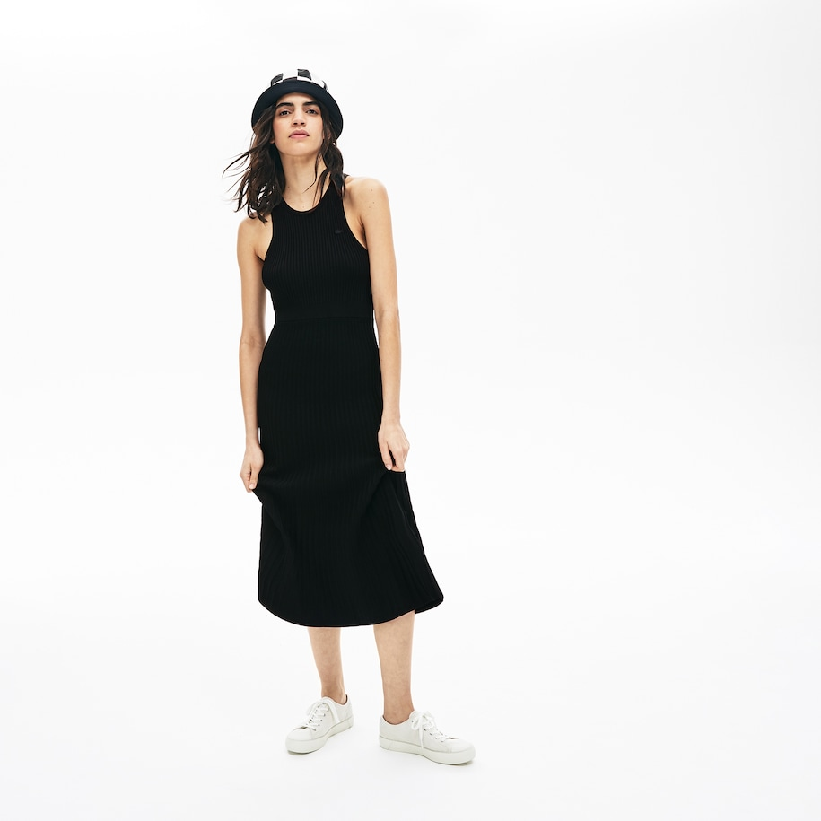 Women's Lacoste LIVE Ribbed Knit Long Tank Top Dress