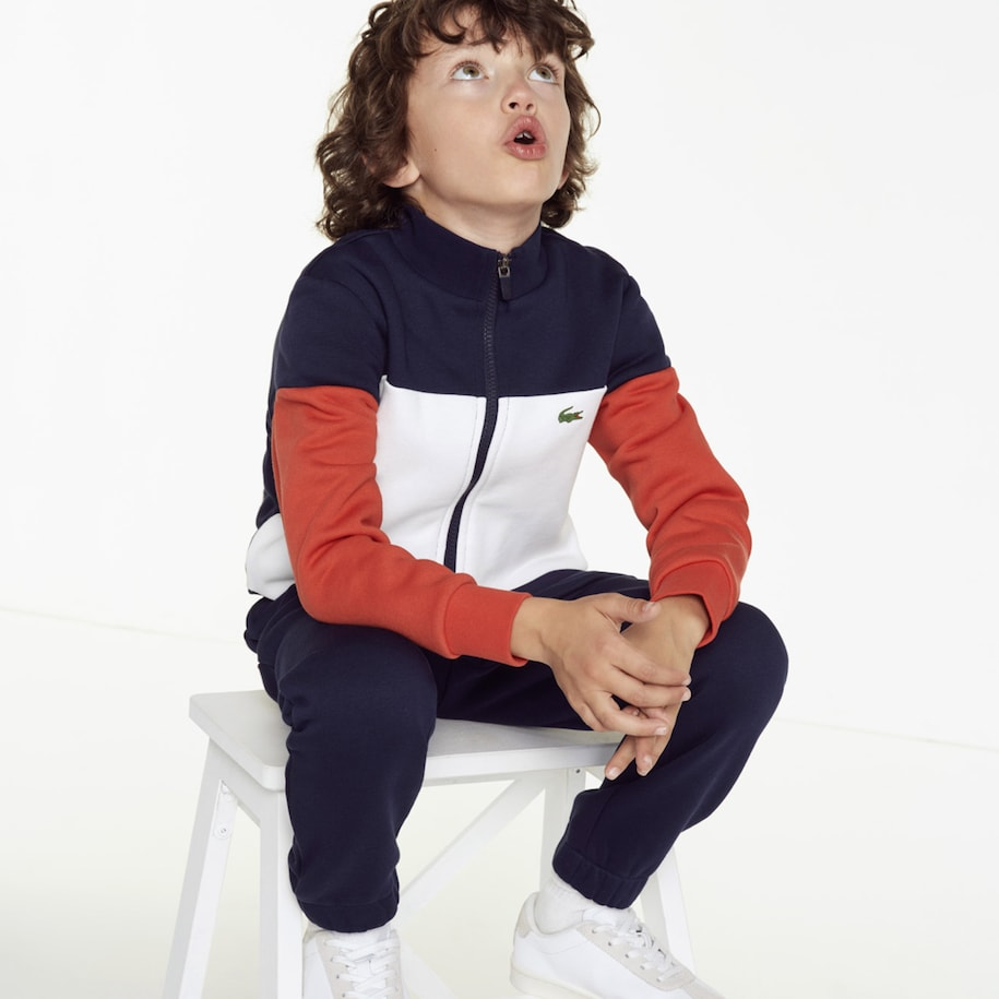 Boys' Lacoste SPORT Colourblock Fleece Tennis Tracksuit