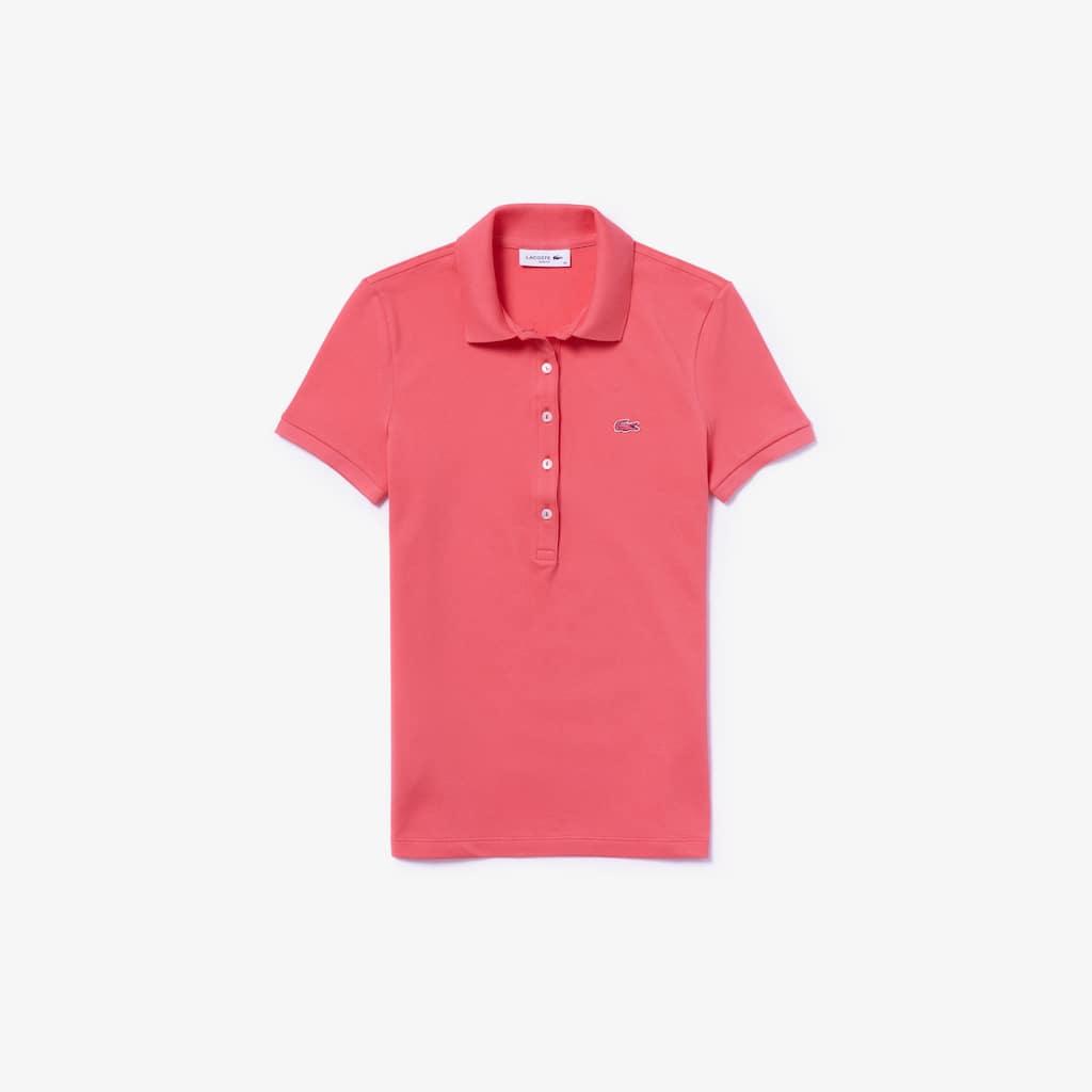 6d55c8880f3bb0 Women s Lacoste Slim Fit Stretch Mini Cotton Piqué Polo Shirt