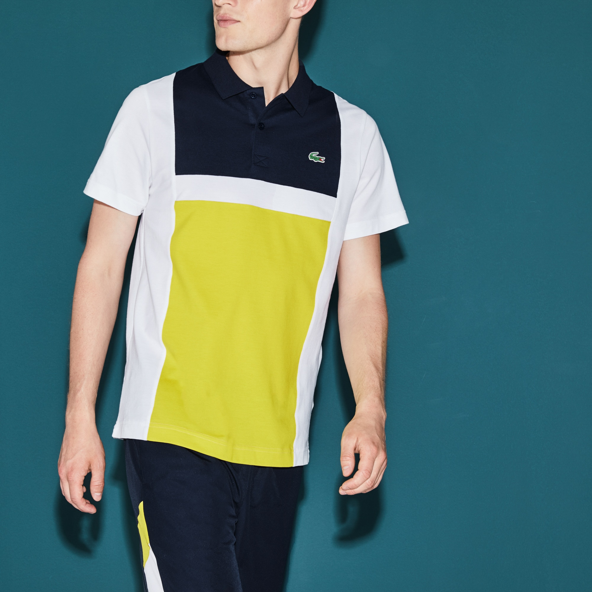 Men's Lacoste SPORT Tennis Colorblock Ultra-Light Cotton Polo Shirt