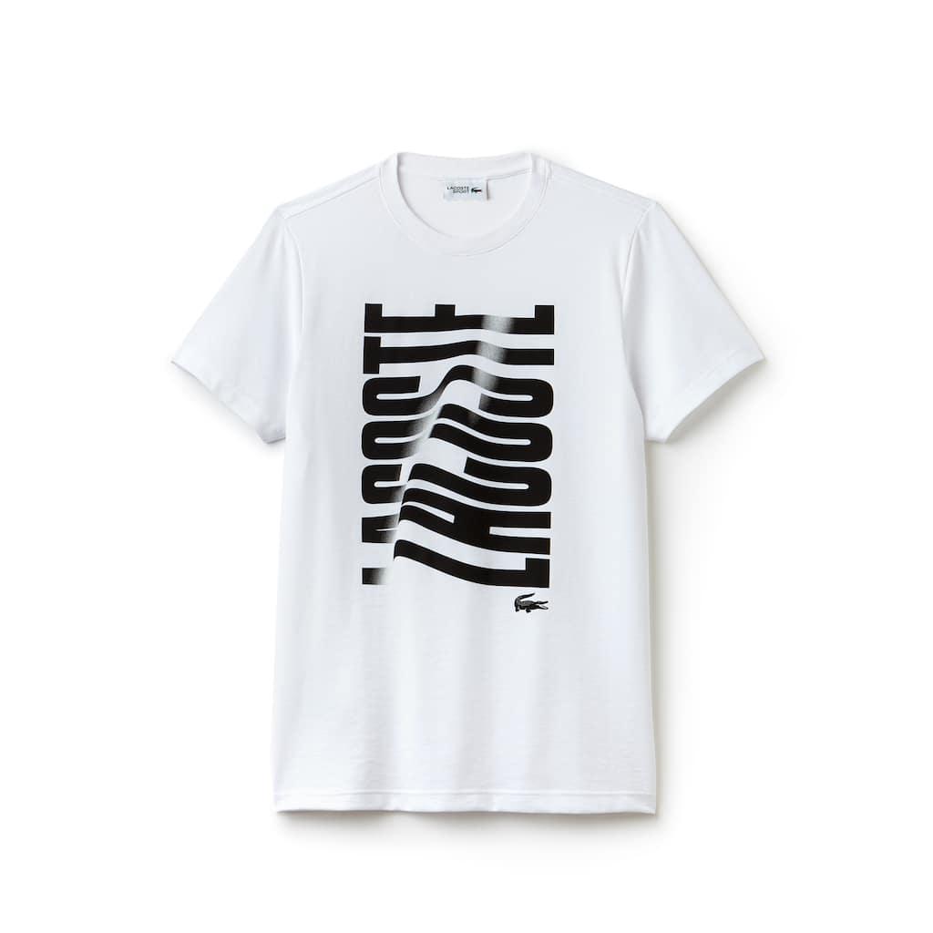 375693c7286 Men's Lacoste SPORT Tennis Lacoste Print Tech Jersey T-shirt | LACOSTE