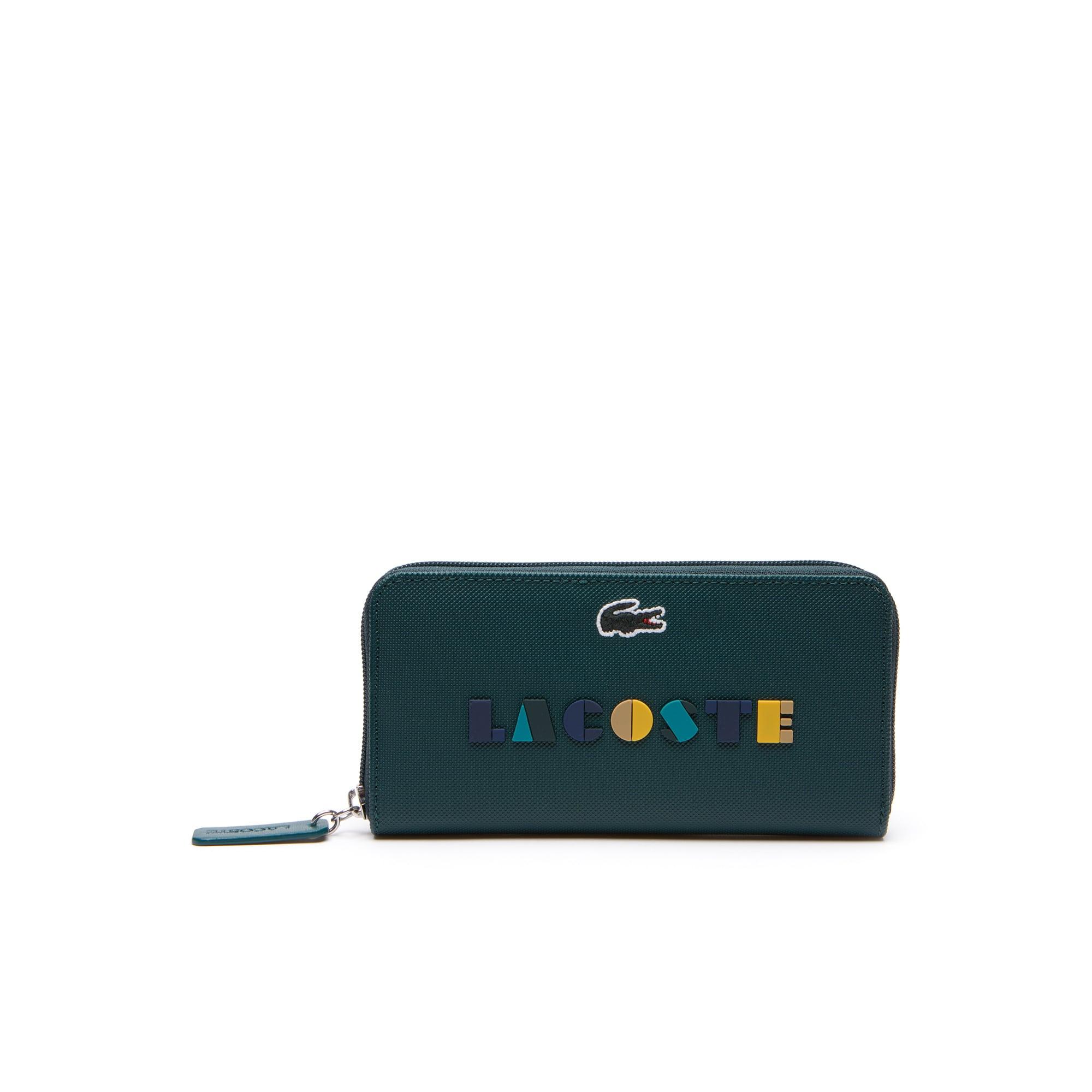 Women's L.12.12 Concept Lacoste Lettering Zip Wallet
