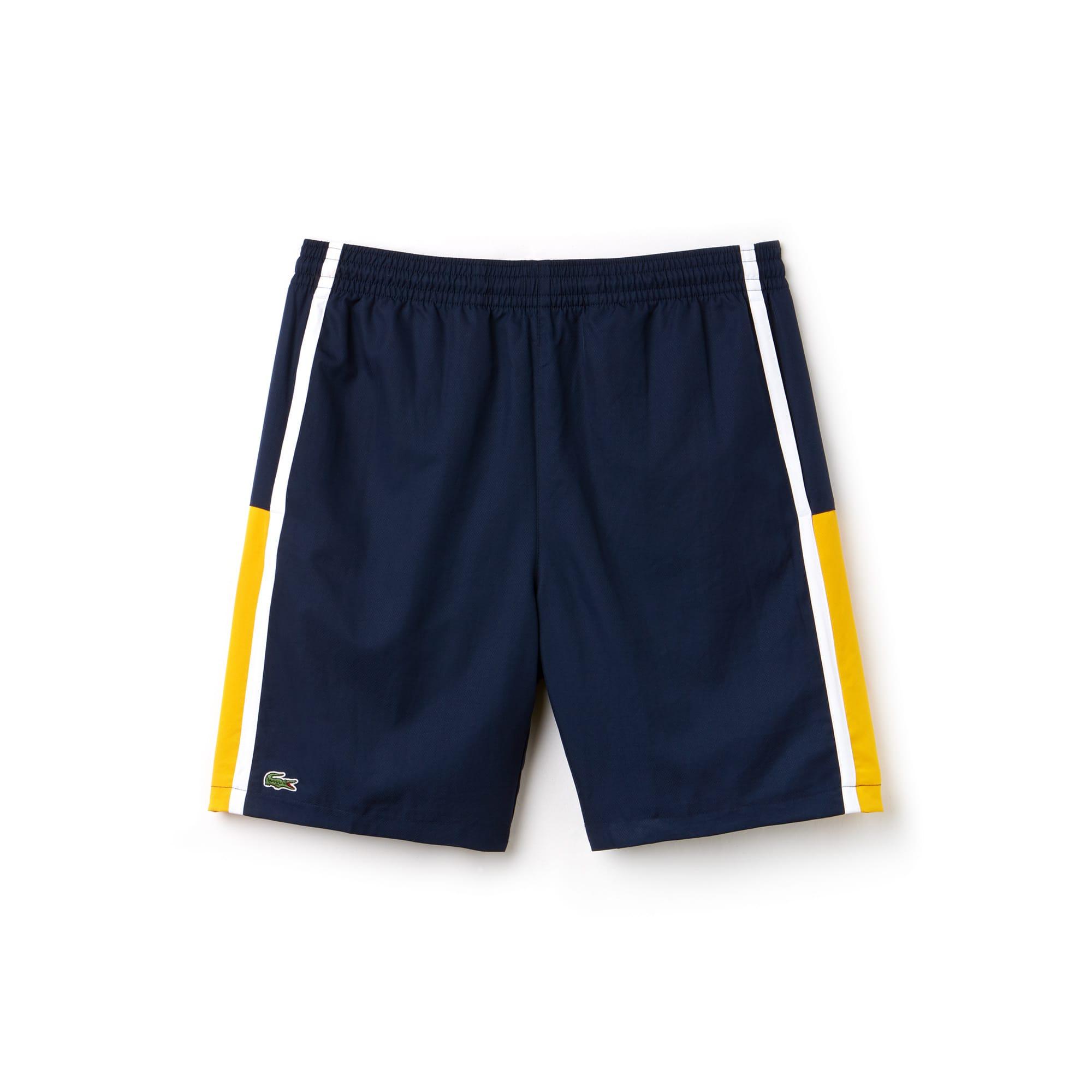 Color block taffeta shorts