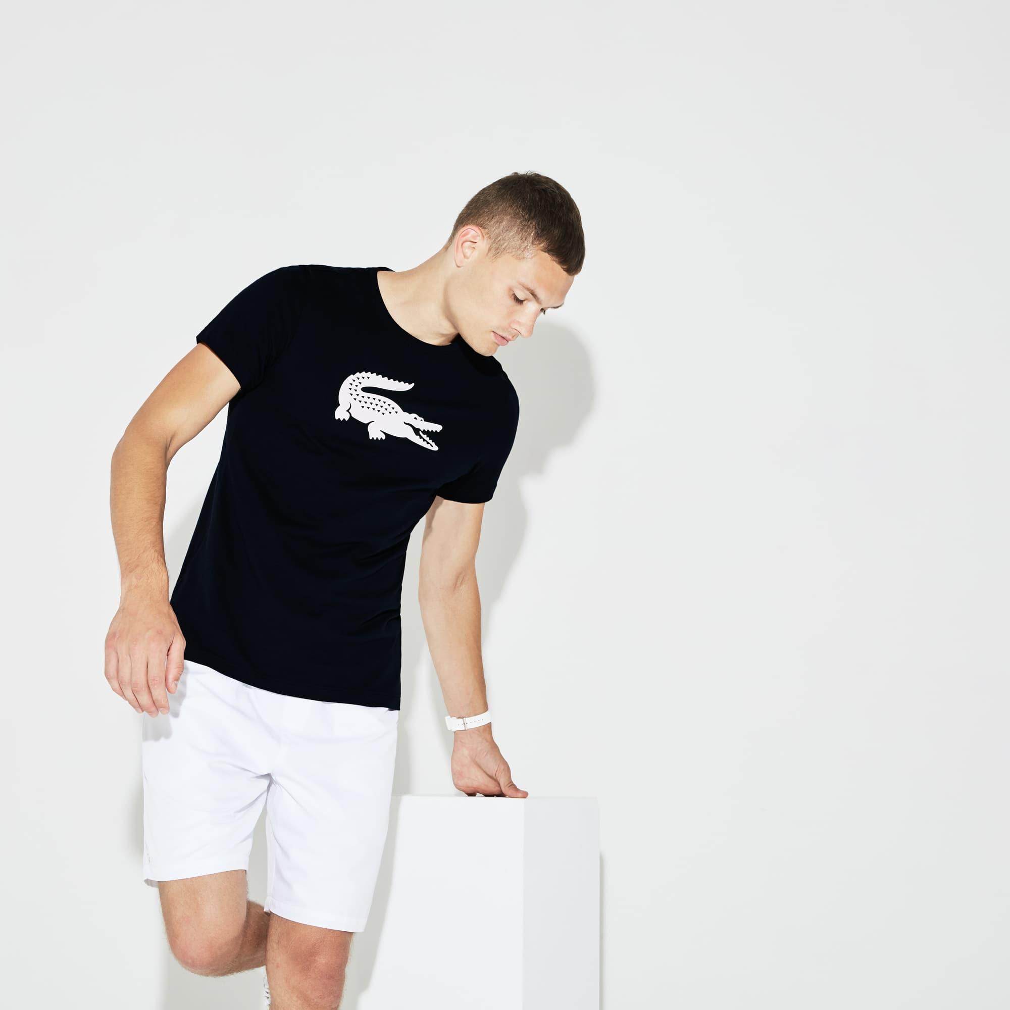 Men's Lacoste SPORT Oversized Crocodile Technical Jersey Tennis T-Shirt