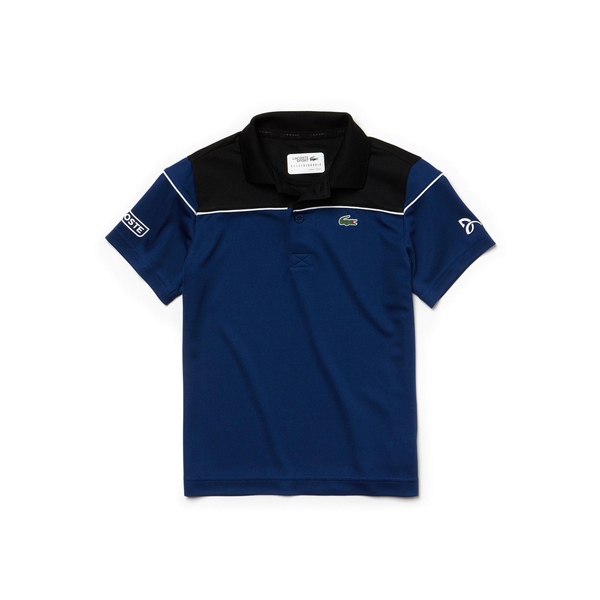 Boys' LACOSTE SPORT NOVAK DJOKOVIC COLLECTION Colorblock Technical Piqué Polo Shirt