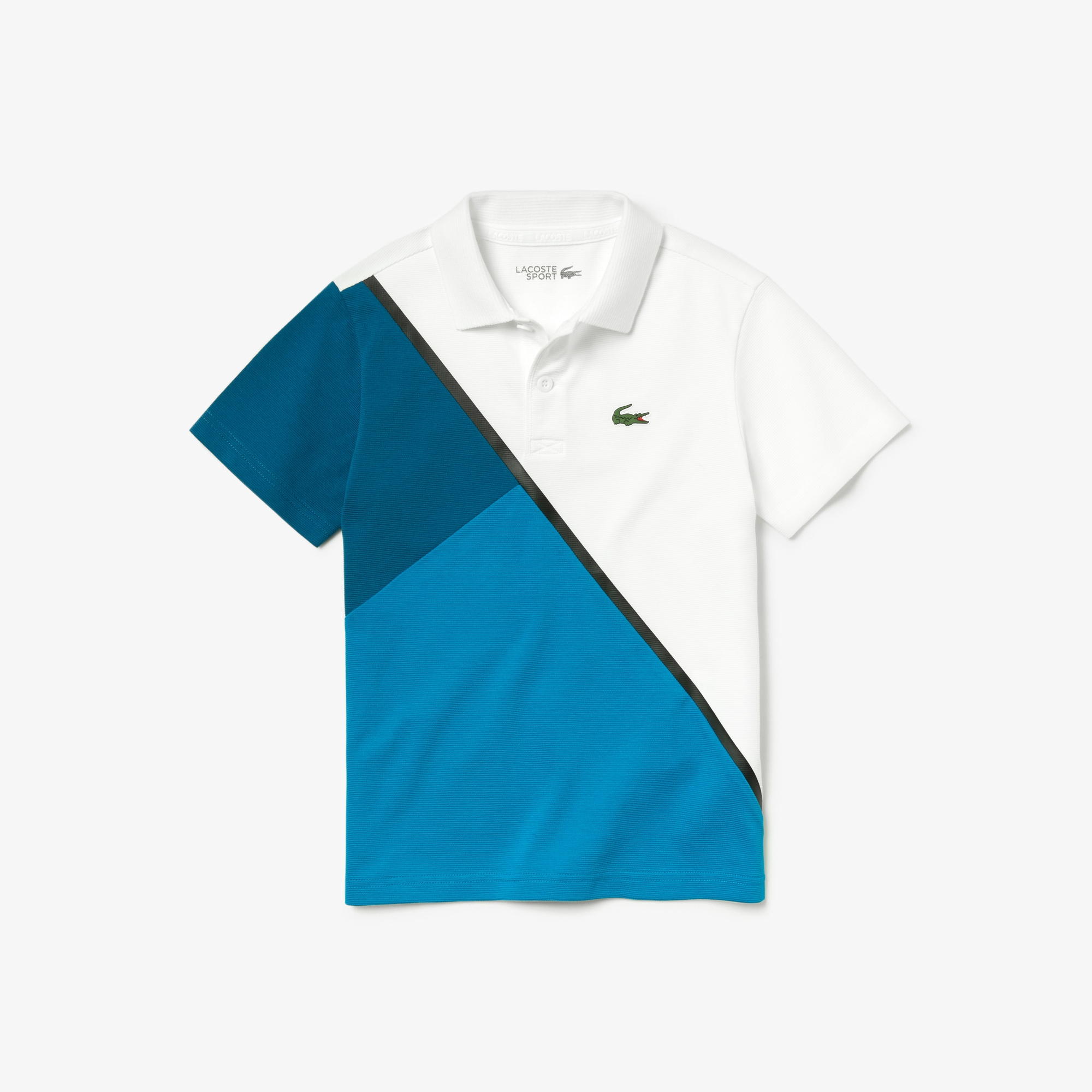Boys' Lacoste SPORT Colourblock Ultra Light Cotton Tennis Polo Shirt
