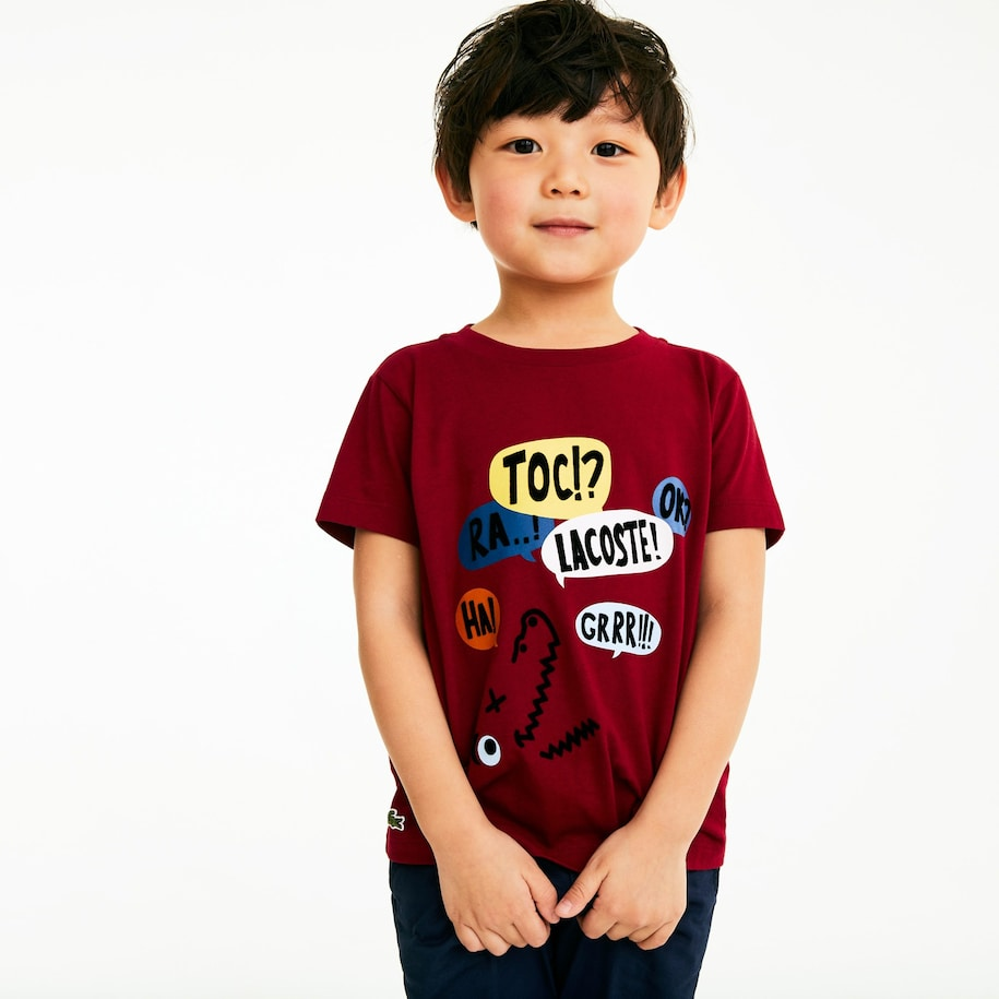 Boys' Crew Neck Fun Design Cotton T-shirt