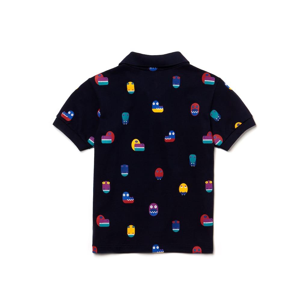 ca39e1ce43f453 Boys  Crocodile Print Cotton Mini Piqué Polo Shirt