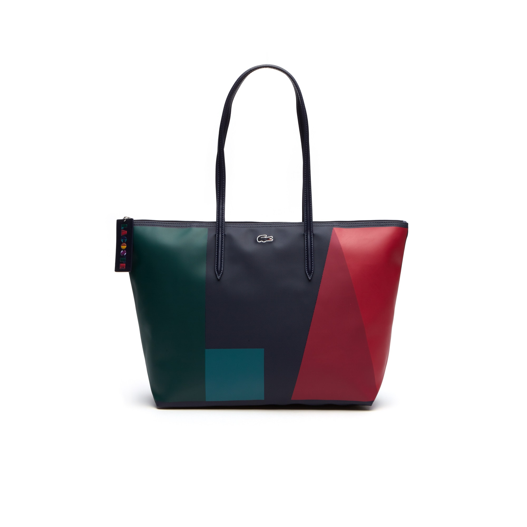 Women's L.12.12 Concept Colorblock Petit Piqué Large Zip Tote