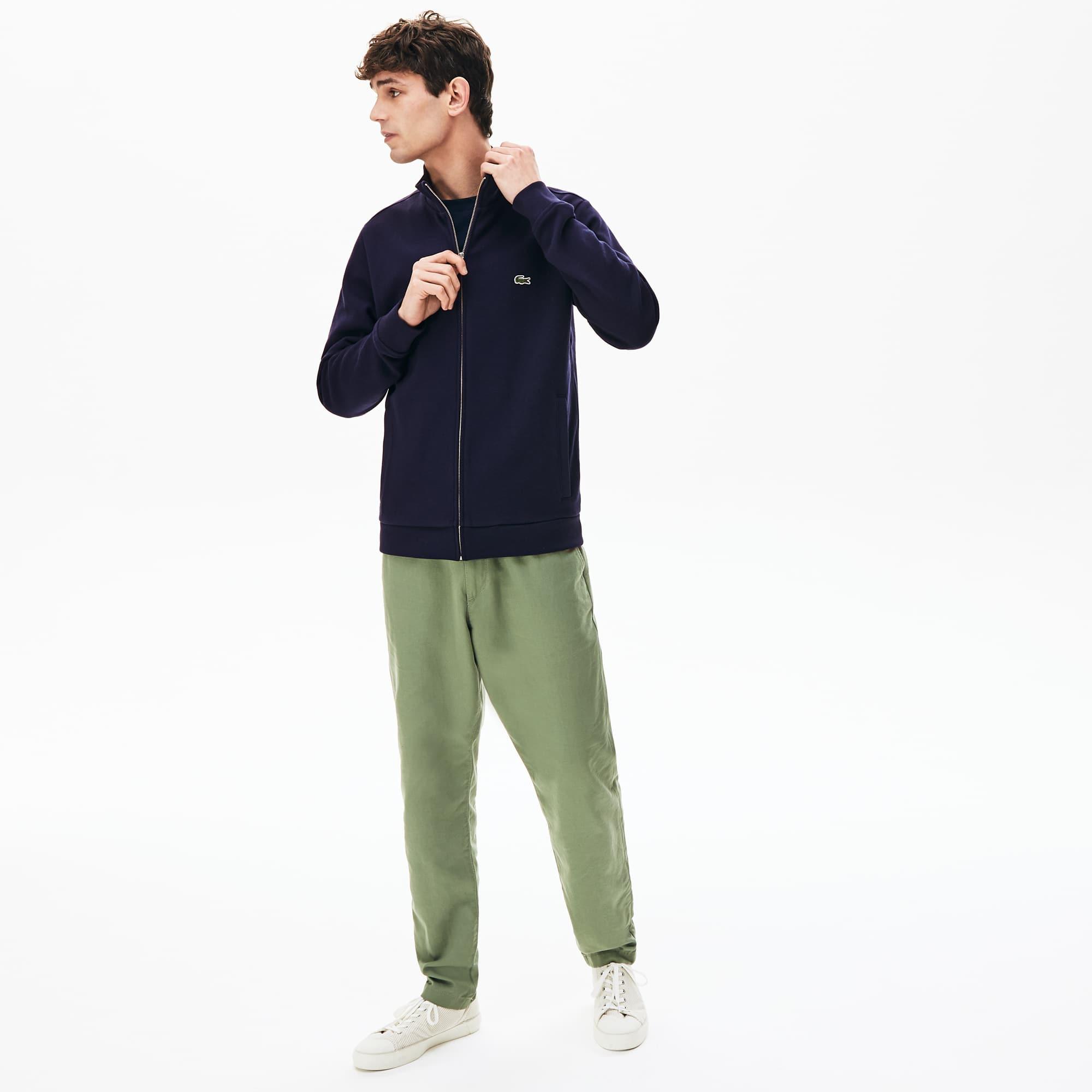3296e0e6 Men's Zip Stand-Up Collar Fleece Sweatshirt | LACOSTE