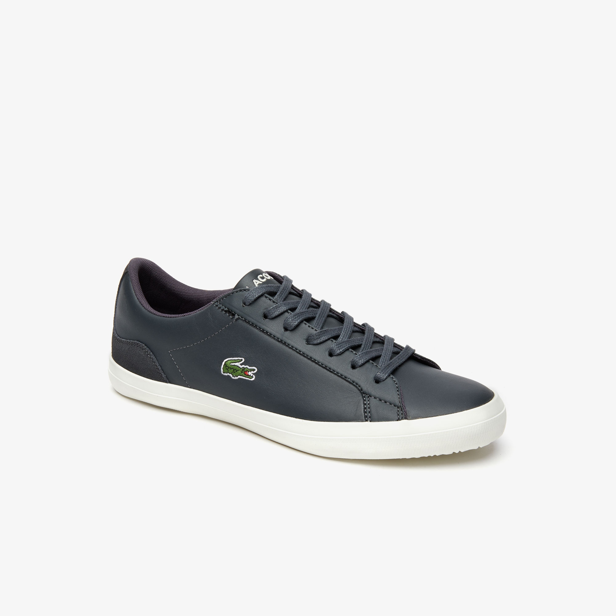 Lerond Leather and Suede Trainers   LACOSTE