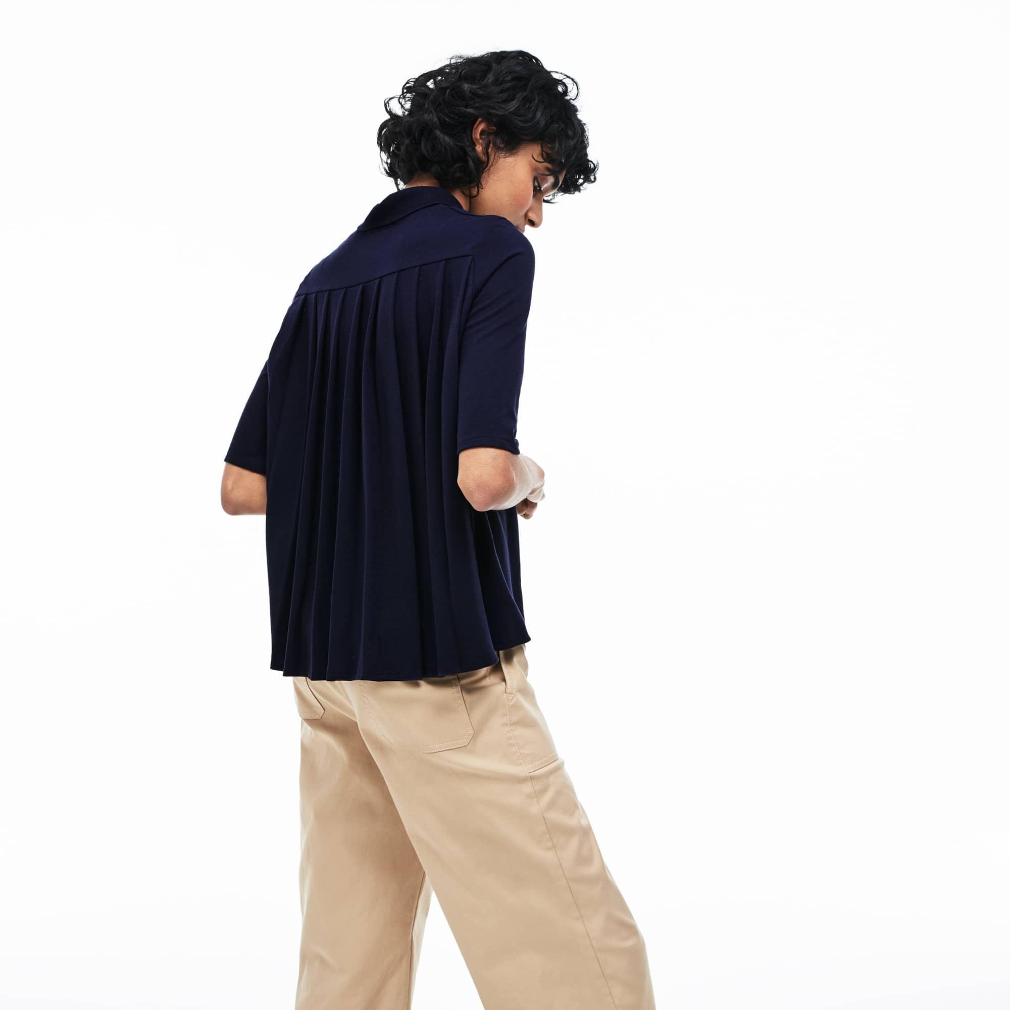 Women's Lacoste Pleated Back Petit Piqué Polo Shirt