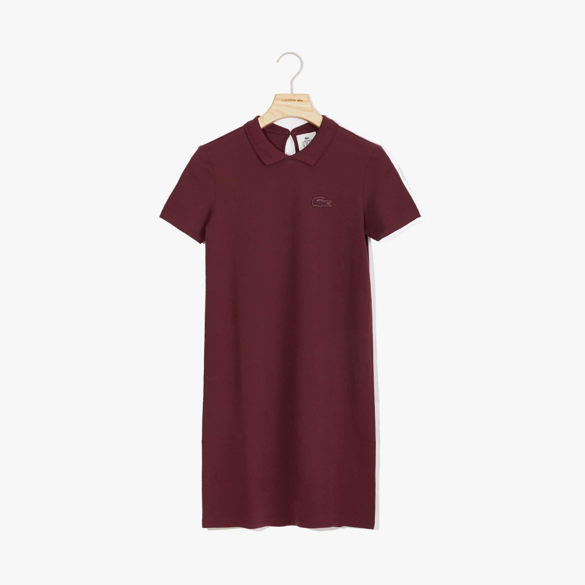 Women's Lacoste LIVE Stretch Piqué Velvet Crocodile Polo Dress