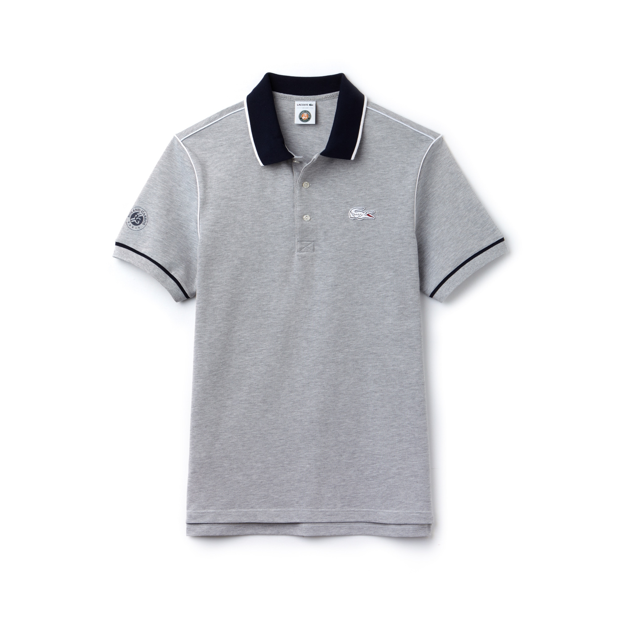 Men's Lacoste SPORT Roland Garros Edition Piped Piqué Polo Shirt