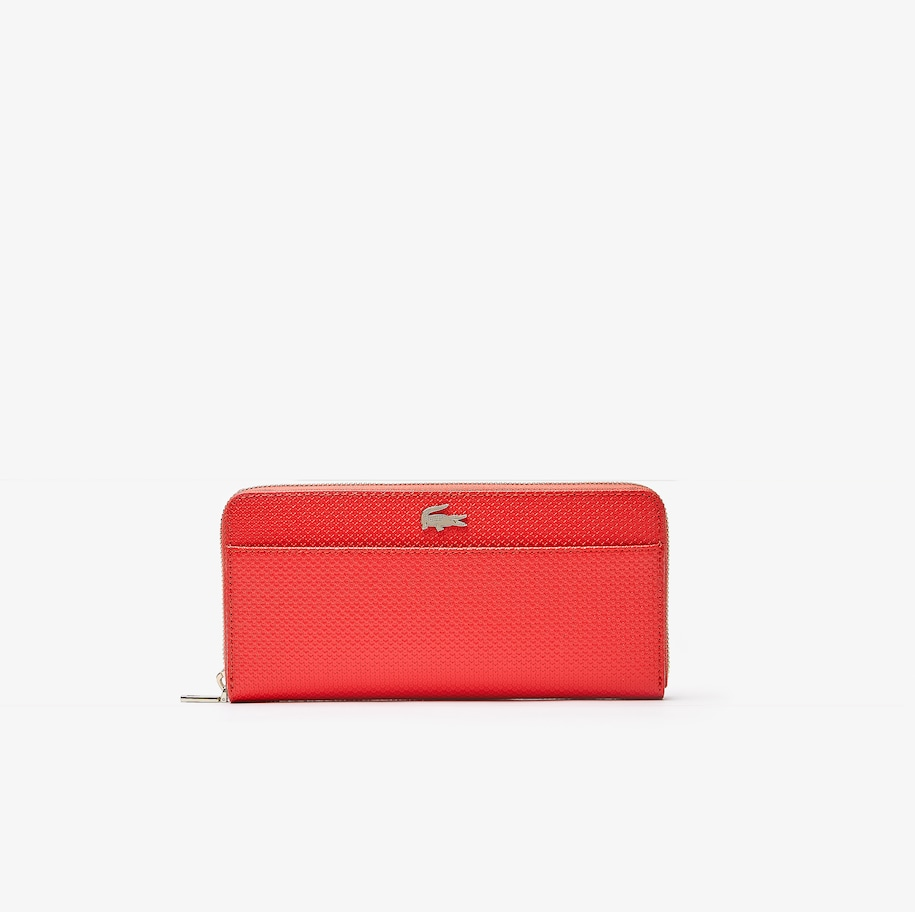 Women's Chantaco Piqué Leather 12 Card Zip Wallet