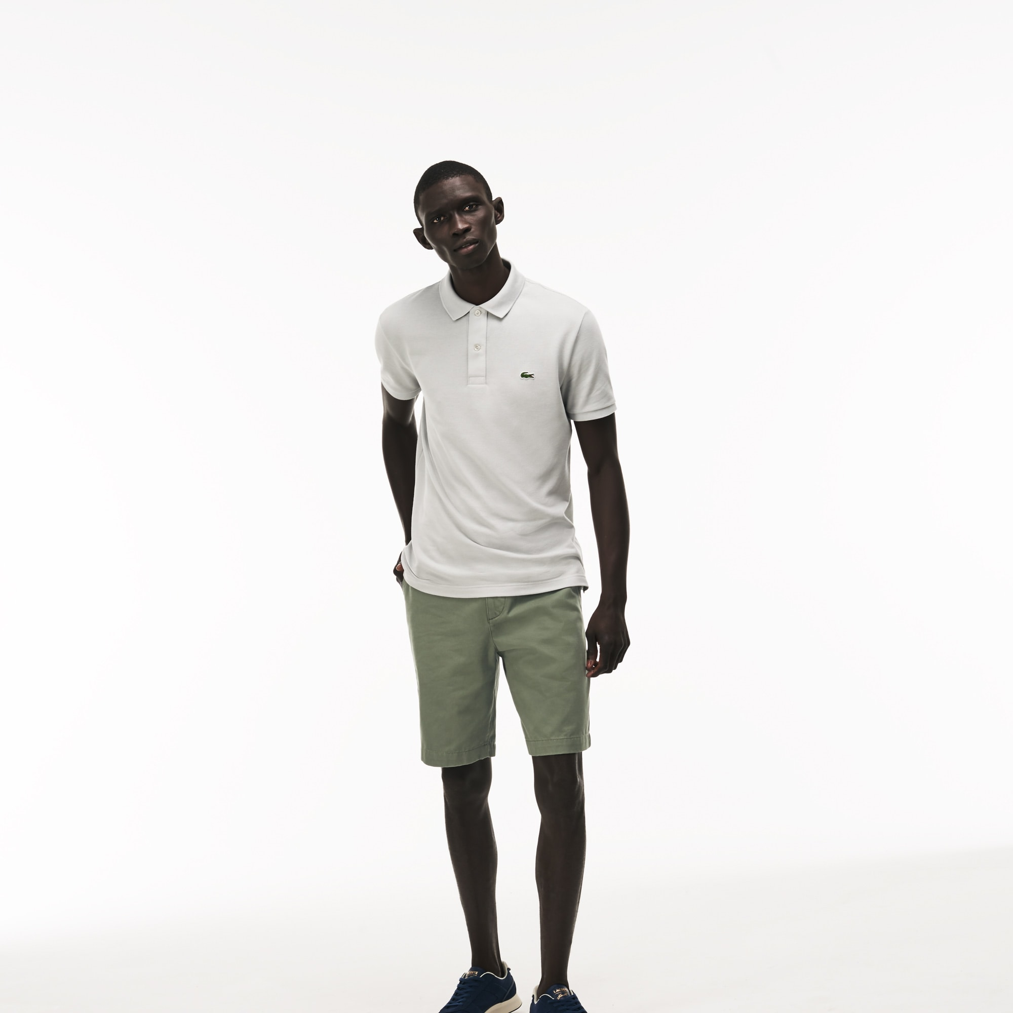 320e72ba2d Men's Regular Fit Cotton Gabardine Bermuda Shorts | LACOSTE