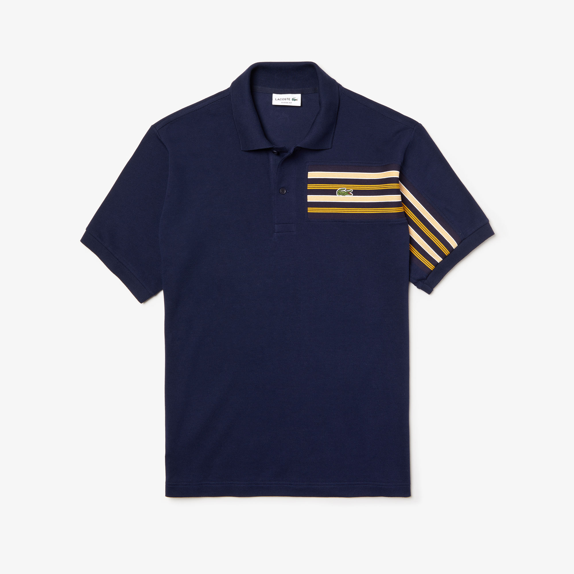 Men's Lacoste L.12.12 Striped Panel Cotton Piqué Polo Shirt