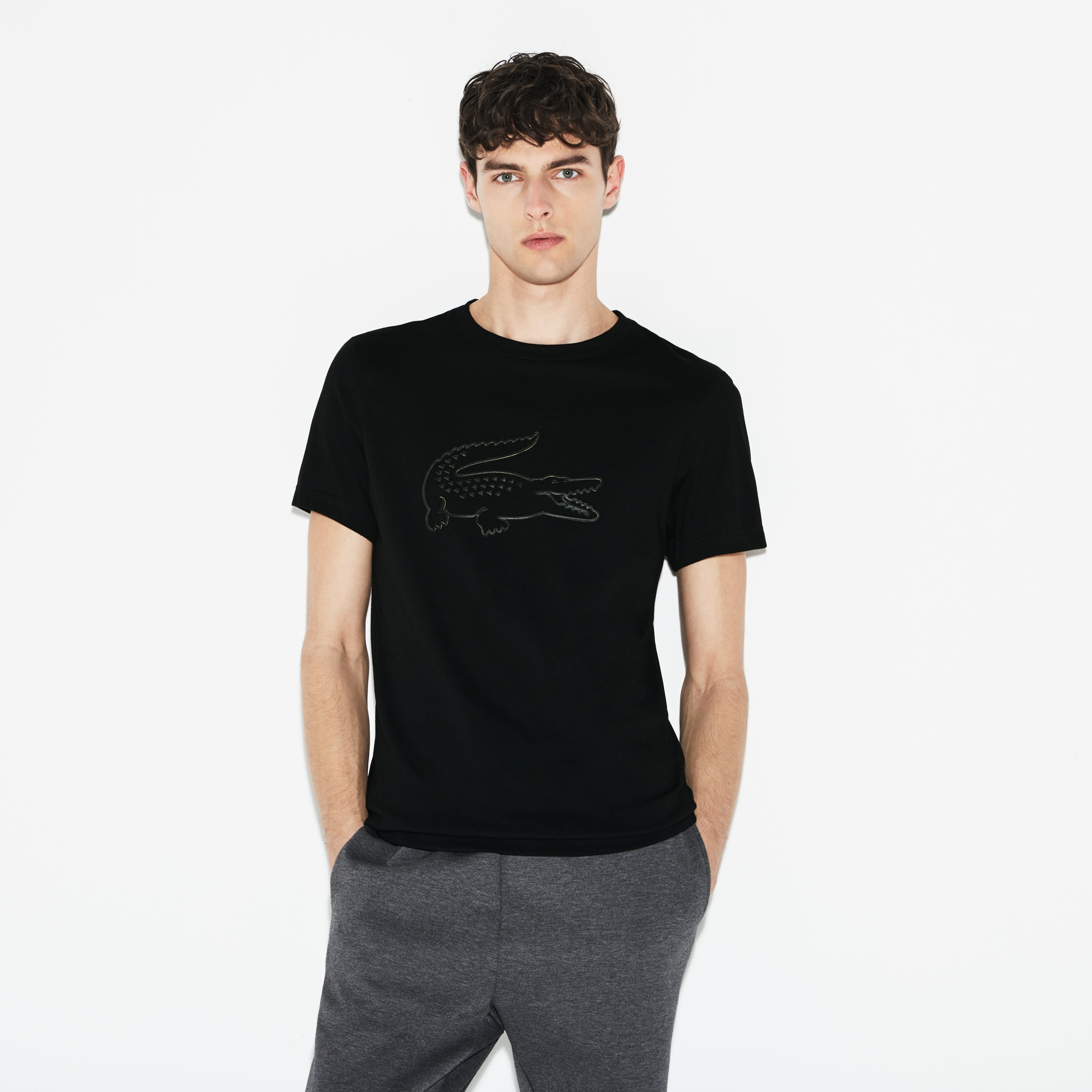 Men's Lacoste SPORT Oversized Croc Tech Jersey Tennis T-shirt