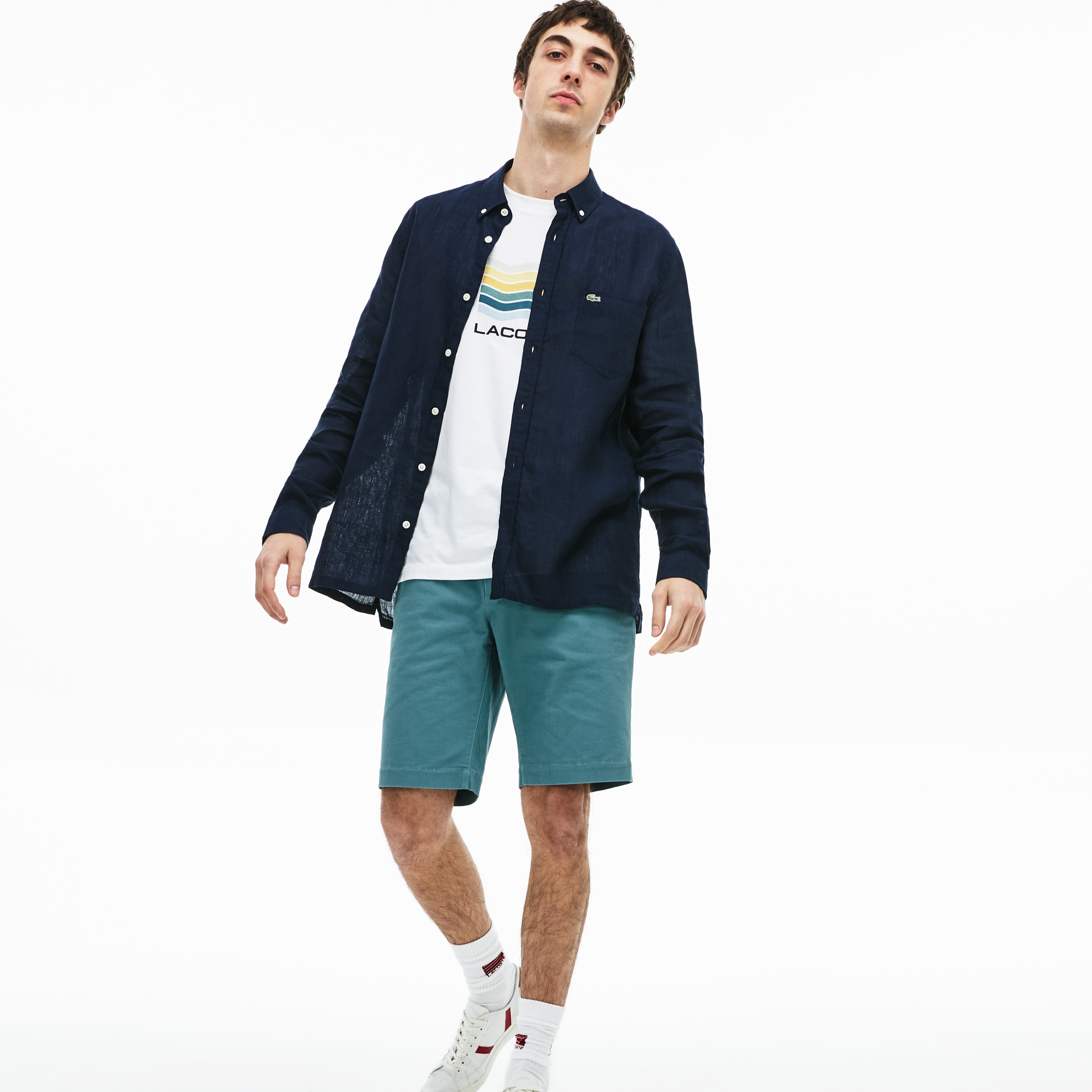 7fc8256955 Men's Slim Fit Stretch Gabardine Bermuda Shorts