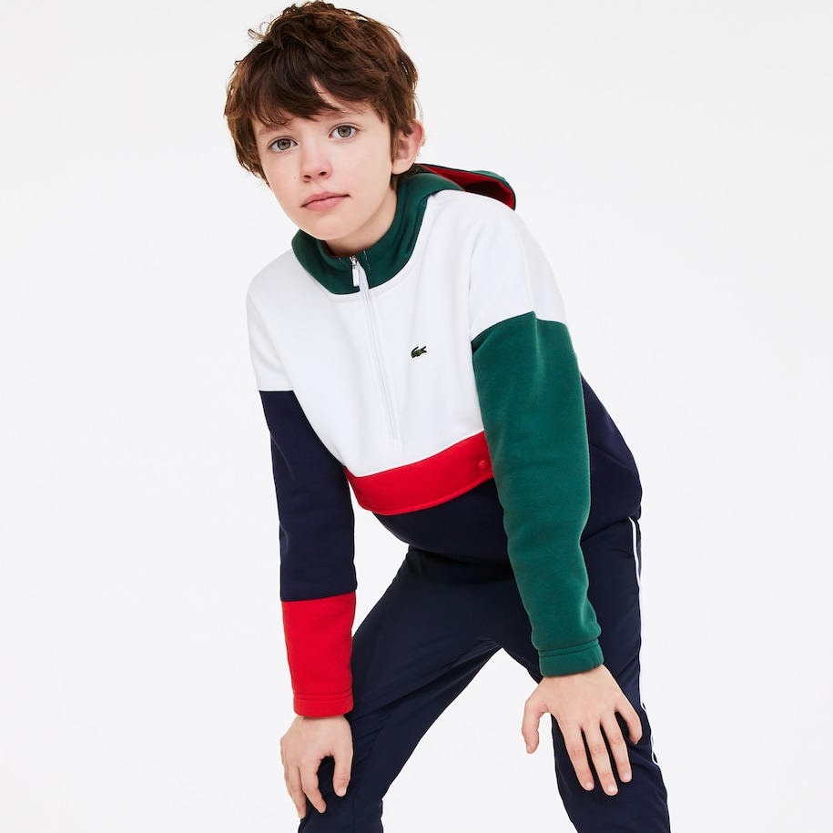 Boys' Colourblock Pullover Fleece Sweatshirt
