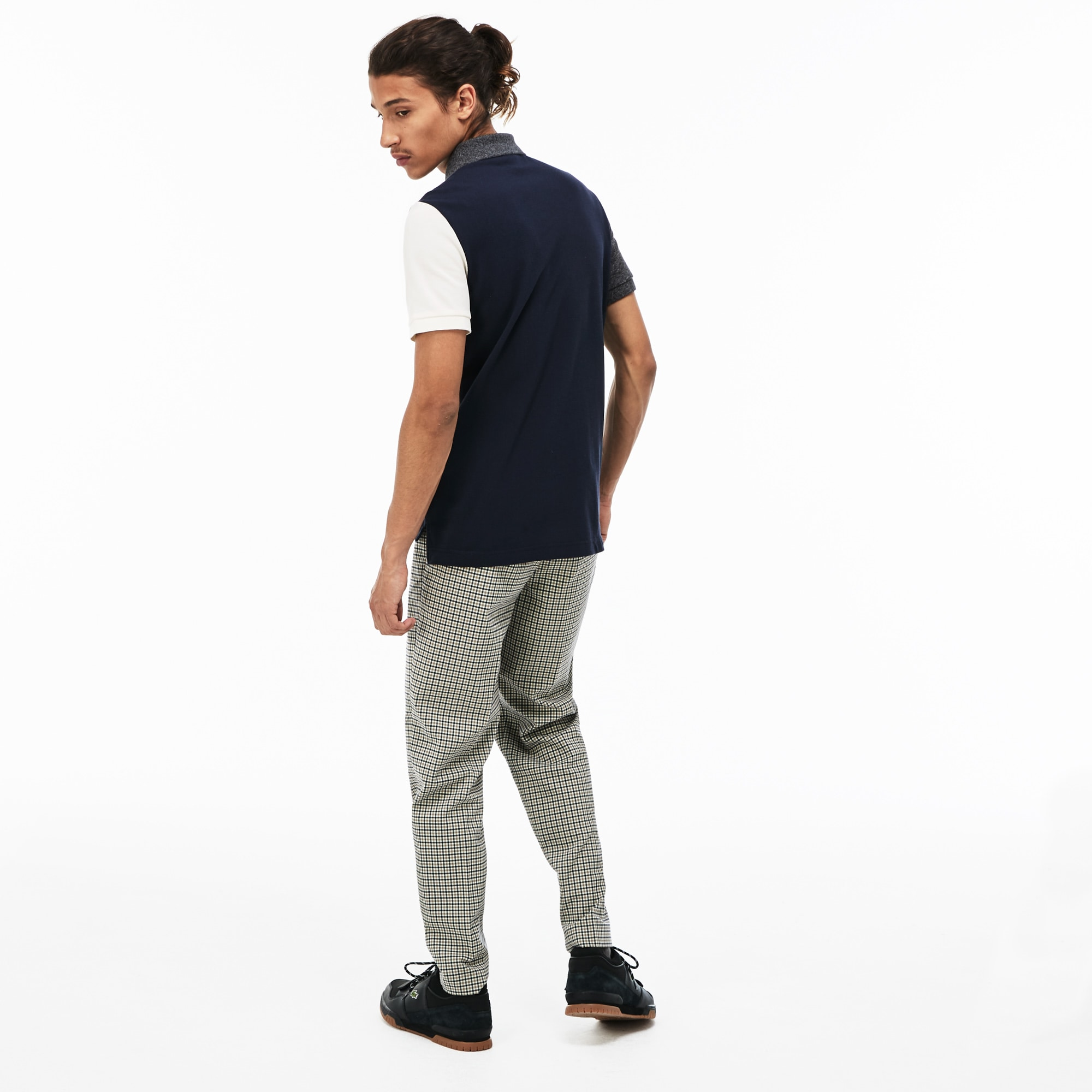 bc28cb52bb Men's Lacoste LIVE Slim Fit Colourblock Cotton Petit Piqué Polo