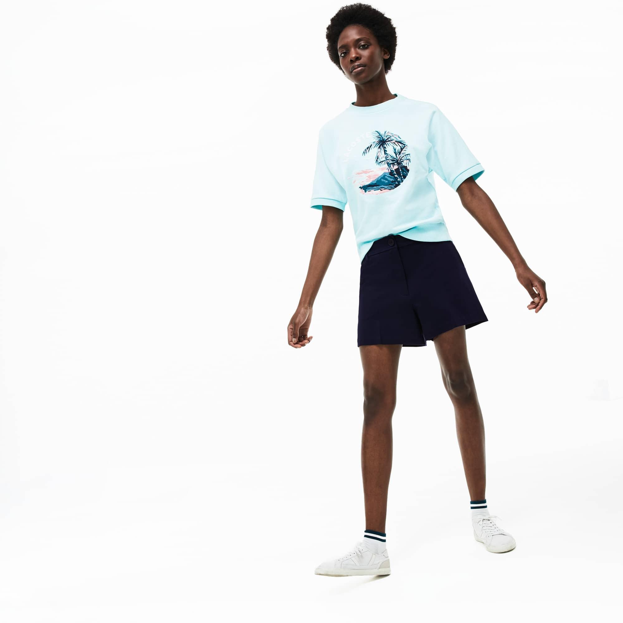 6bbaaa73 Women's Pleated Technical Knit Bermuda Shorts | LACOSTE