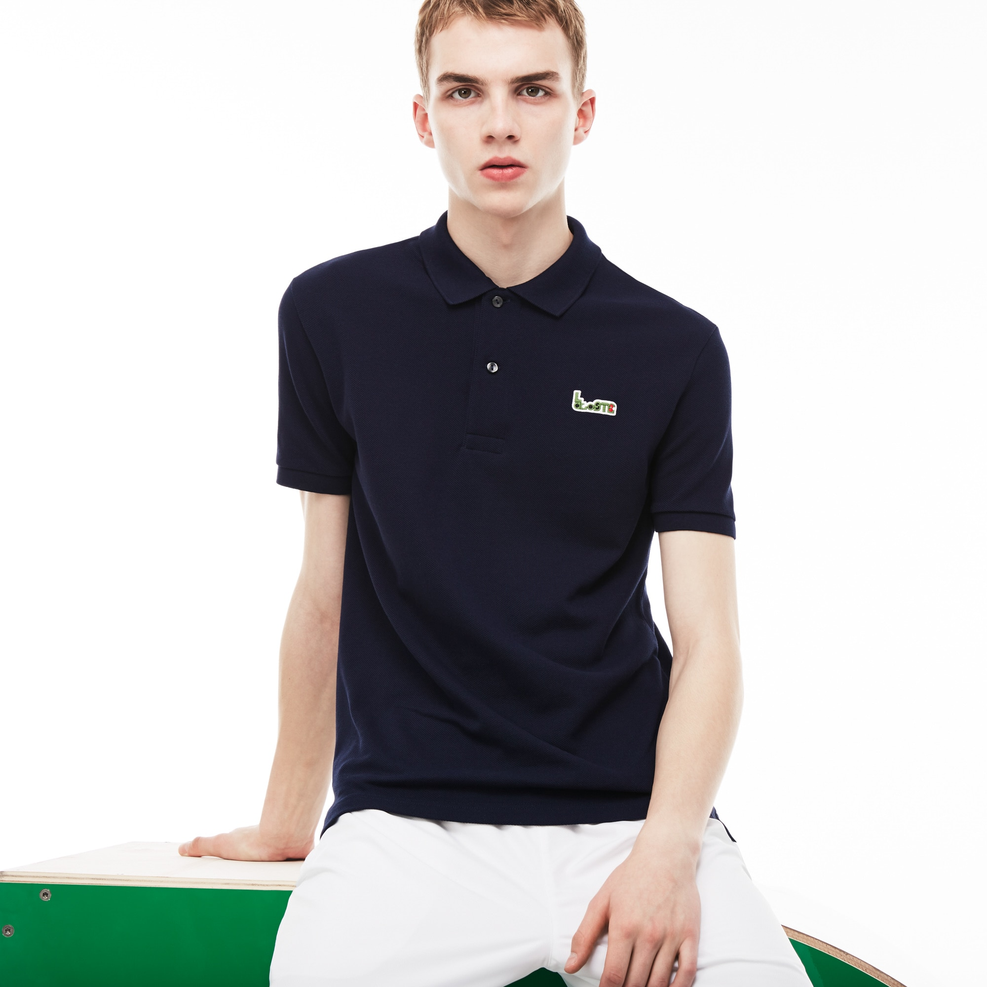 Men's Lacoste M/M Collab Slim Fit Thick Cotton Piqué Polo Shirt