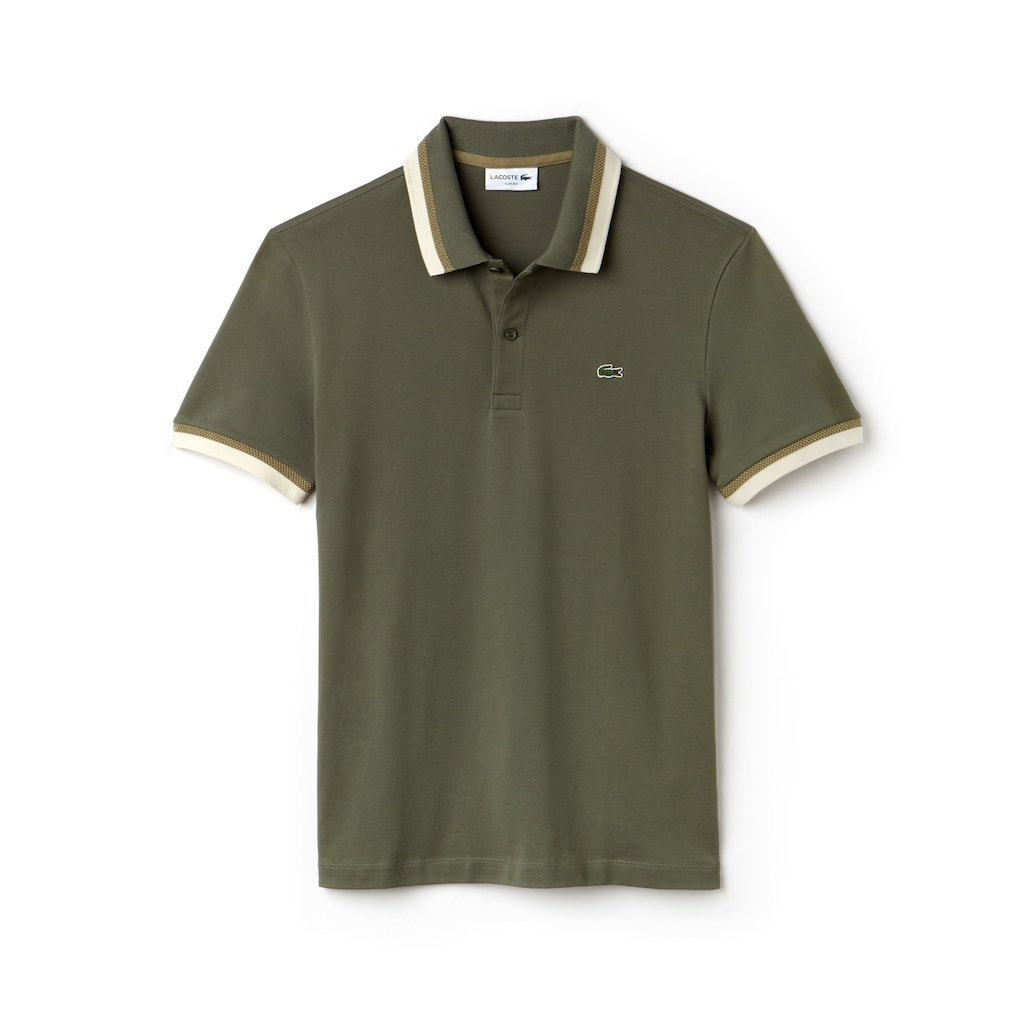 d345f92bac486b Men s Lacoste Slim Fit Contrast Accents Stretch Pima Piqué Polo ...