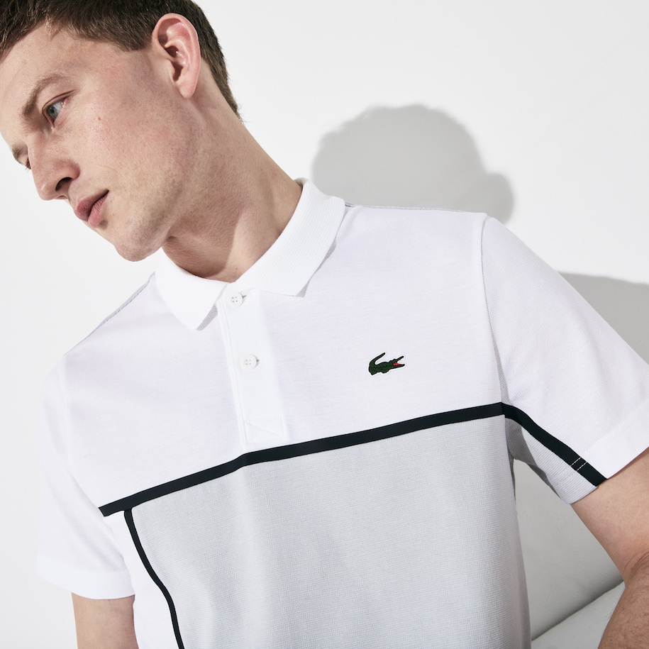 Men's Lacoste SPORT Colourblock Ultra-Light Cotton Tennis Polo Shirt