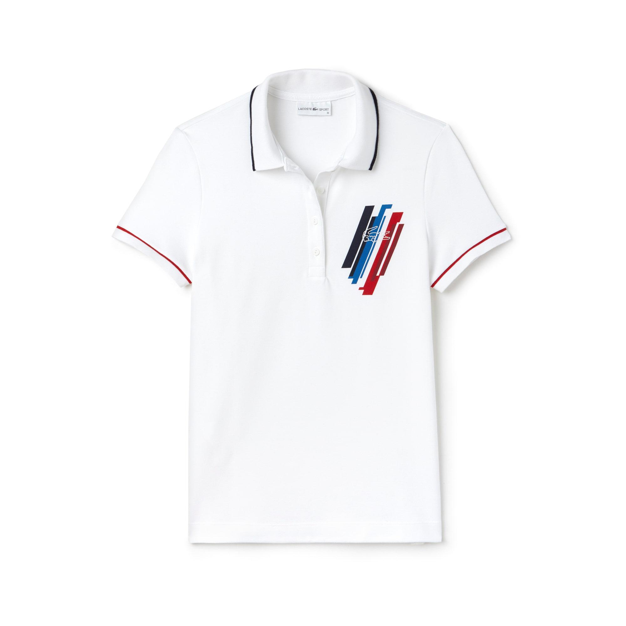 Women's Lacoste SPORT COLLECTION TRICOLORE Edition Stretch Mini Piqué Polo Shirt