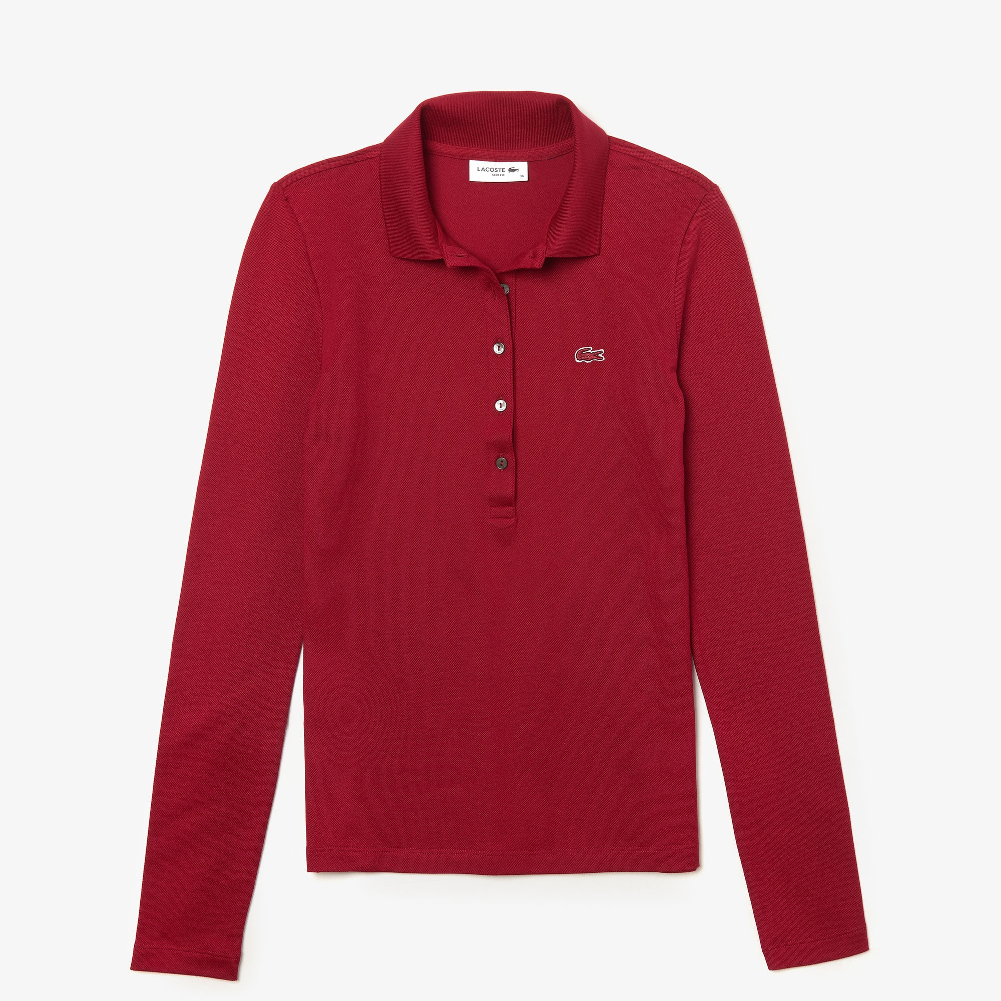 78b2dcd49475 Women's Lacoste Slim Fit Stretch Mini Piqué Polo Shirt