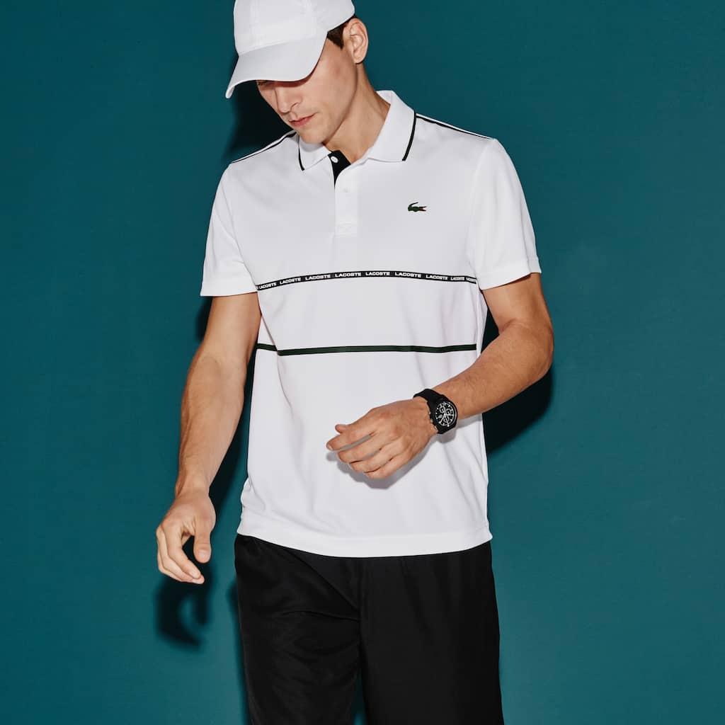 b085518cf87 Men s Lacoste SPORT Tennis Contrast Band Technical Piqué Polo Shirt ...