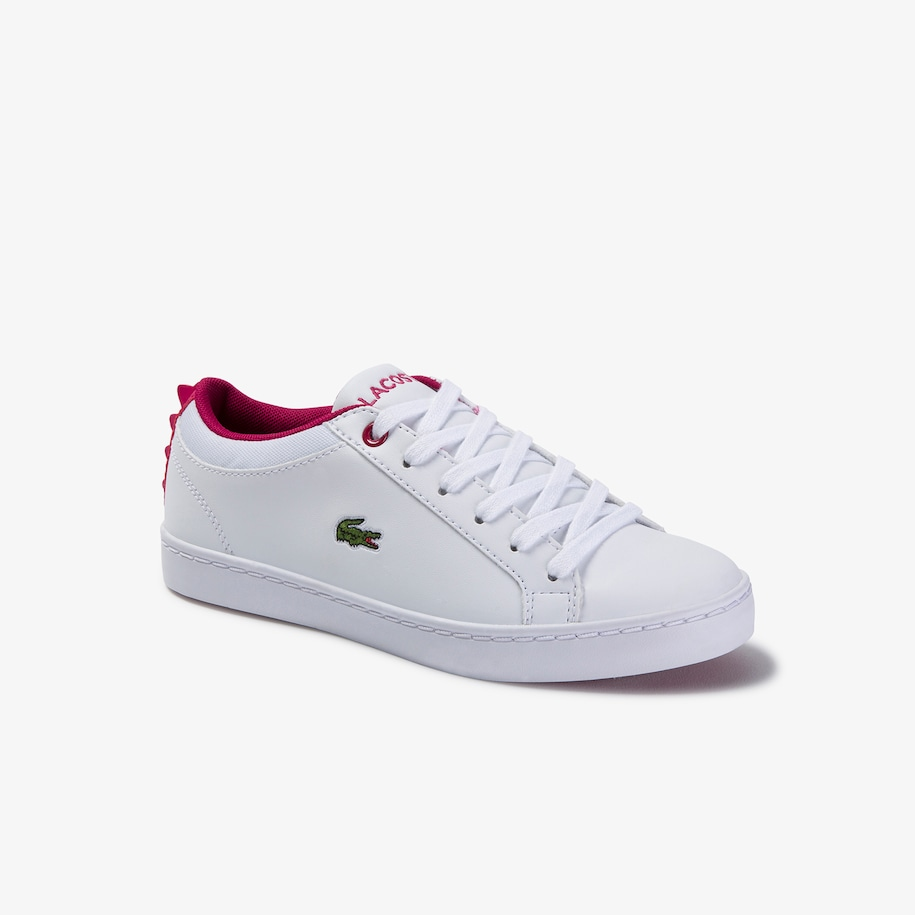 Children's Straightset Lace-up Synthetic and Textile Trainers