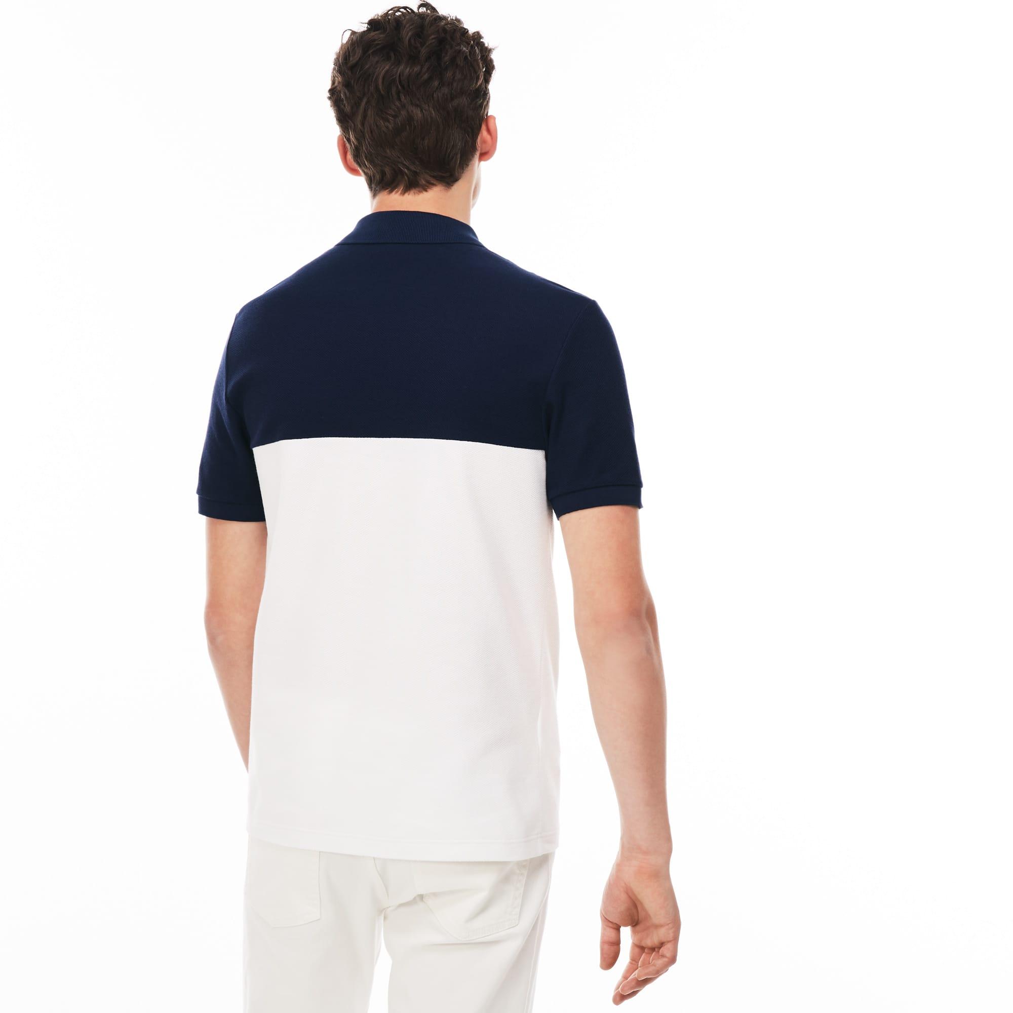 7ff42738 Men's Lacoste Slim Fit Colourblock Honeycomb Cotton Polo Shirt