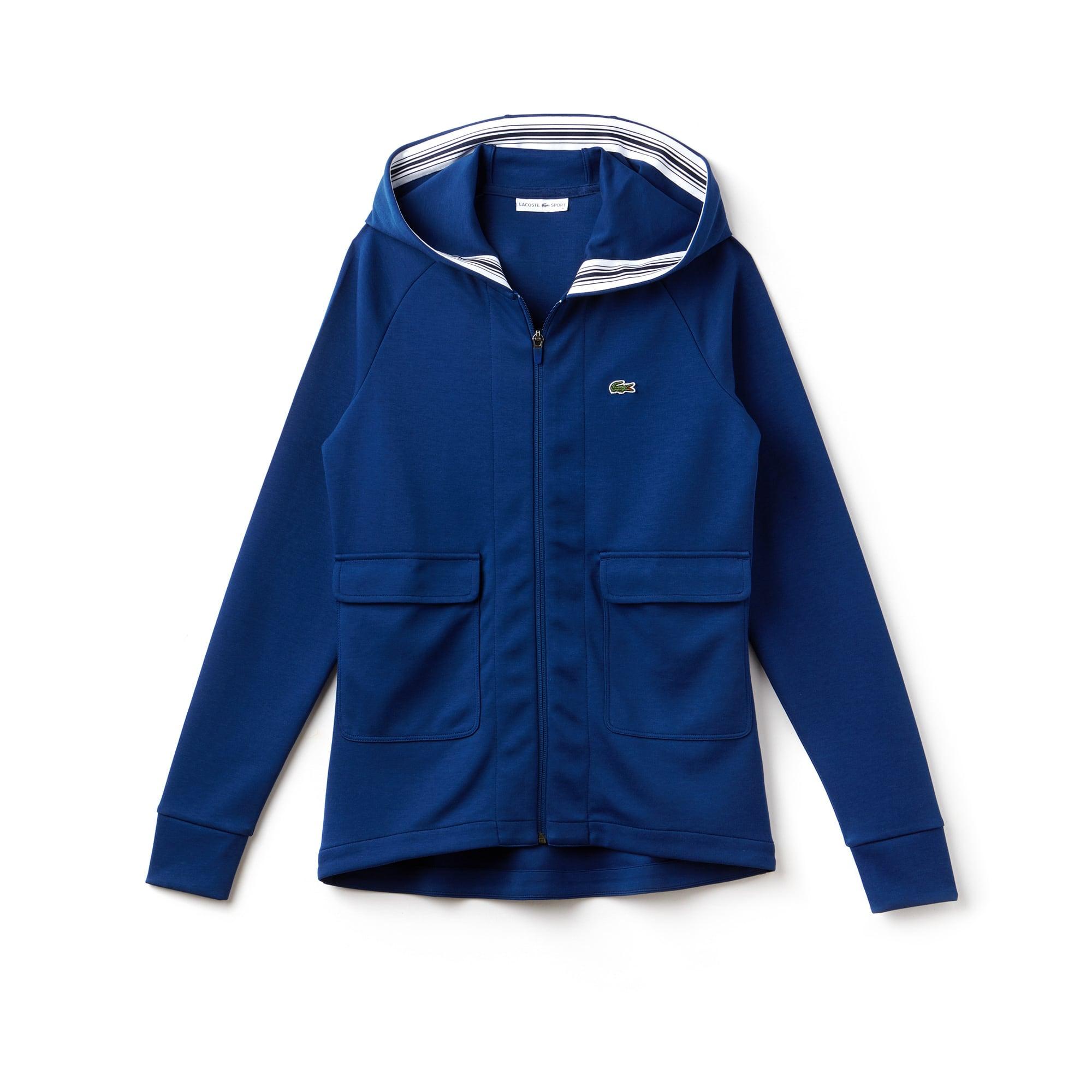 Damen LACOSTE SPORT Baumwoll Tennis-Sweatshirt mit Kapuze