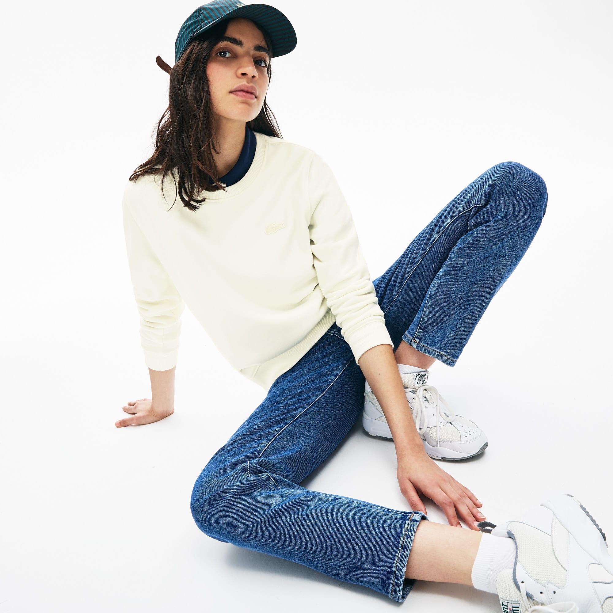 Damen-Sweatshirt aus Baumwollfleece LACOSTE L!VE