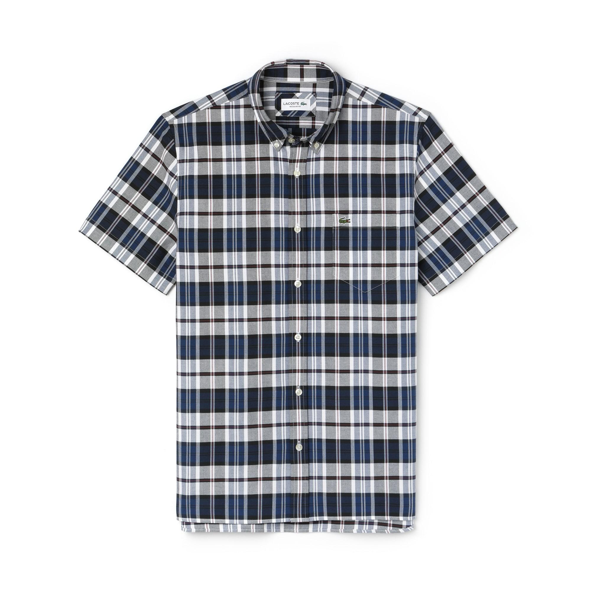 Regular Fit Herren-Hemd aus Oxford-Baumwolle mit bunten Karos