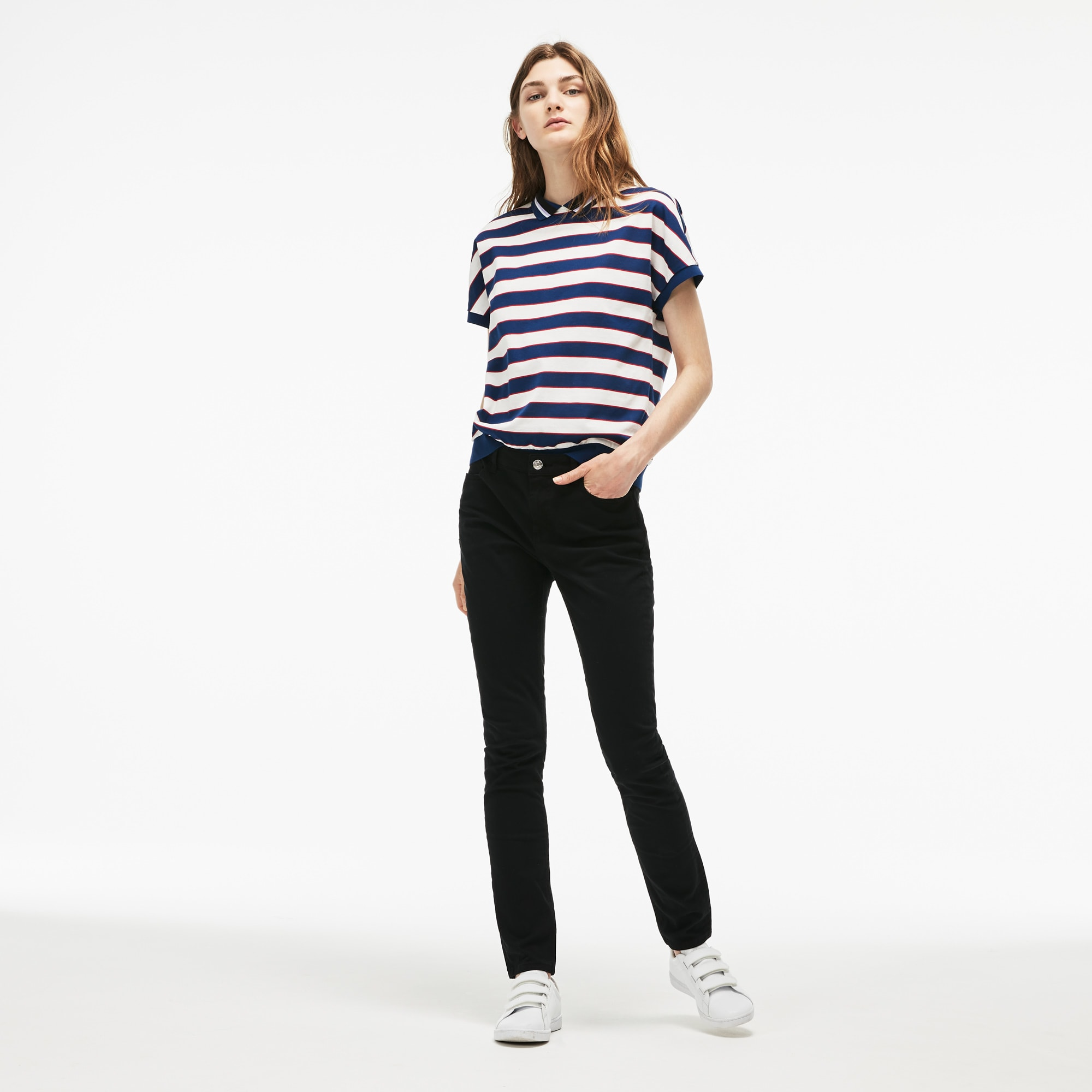 Slim Fit Damen-Jeans aus Baumwoll-Denim mit Stretch