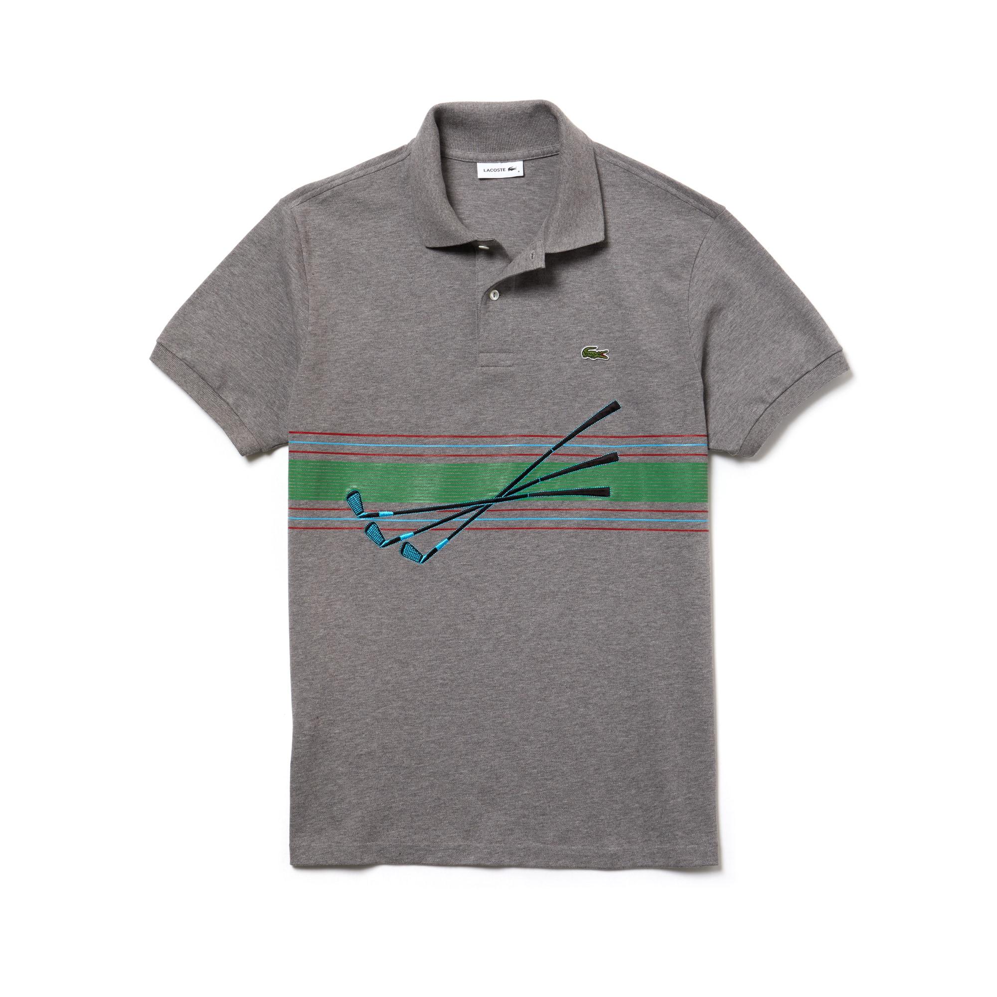 Herren LACOSTE Poloshirt aus gesticktem Baumwollpiqué FASHION SHOW