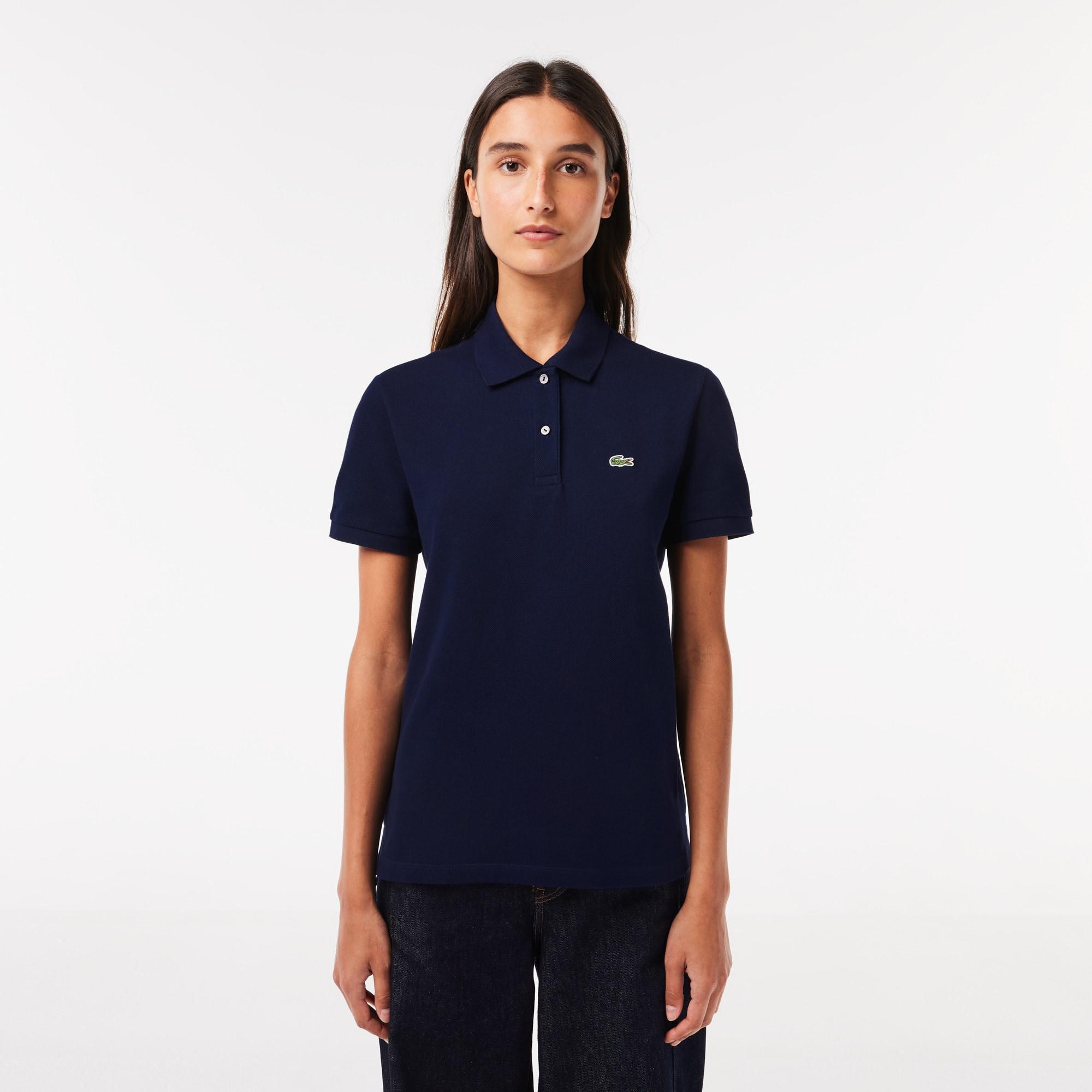 LACOSTE Classic Fit Damen-Poloshirt aus weichem Petit Piqué