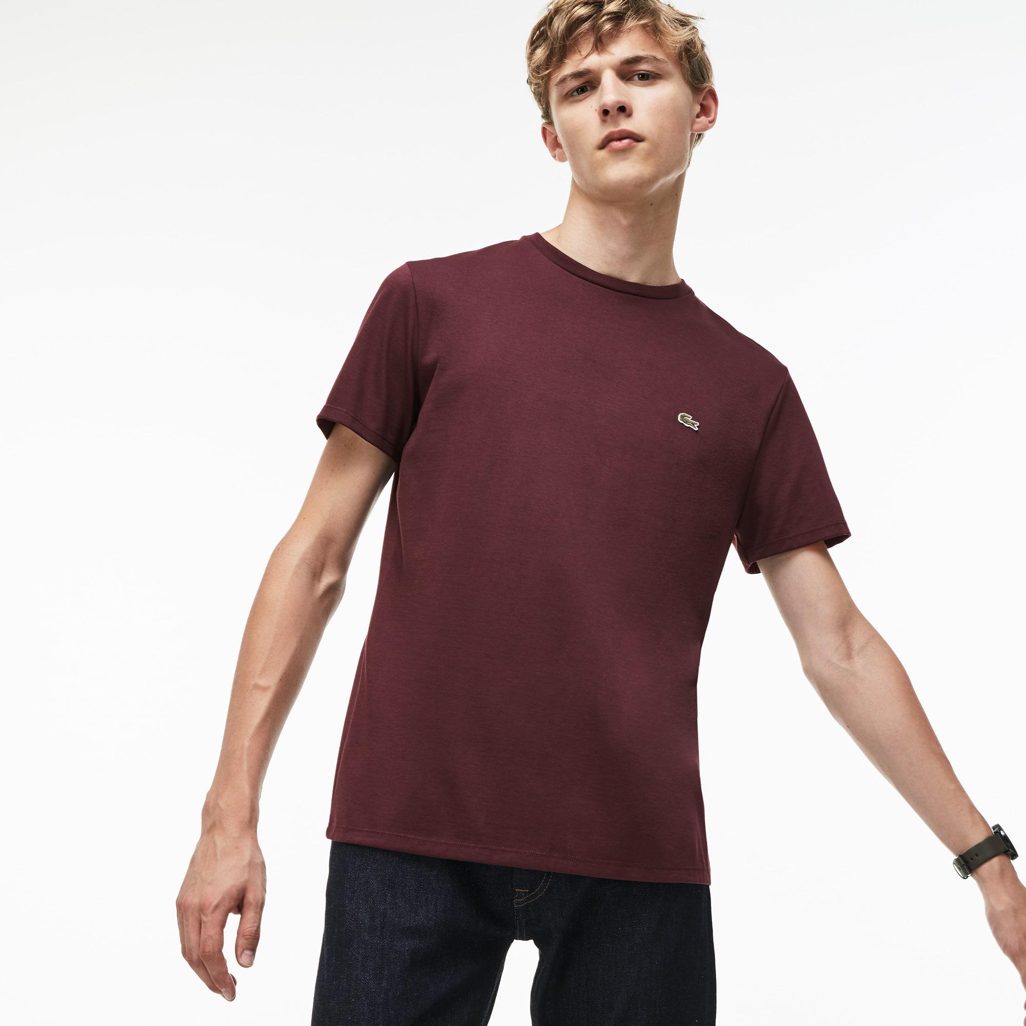 Herren-Rundhals-Shirt aus Pima-Baumwolljersey