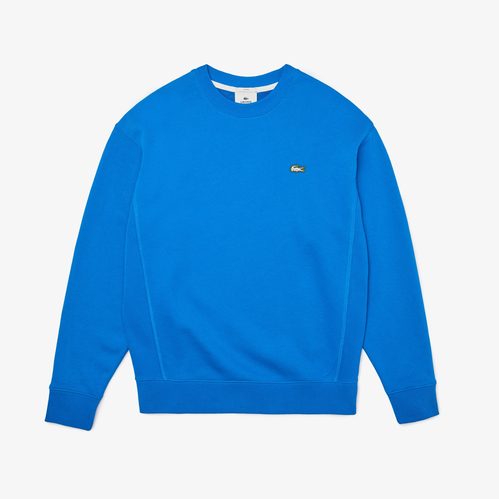 Unisex LACOSTE L!VE Sweatshirt aus Baumwollfleece